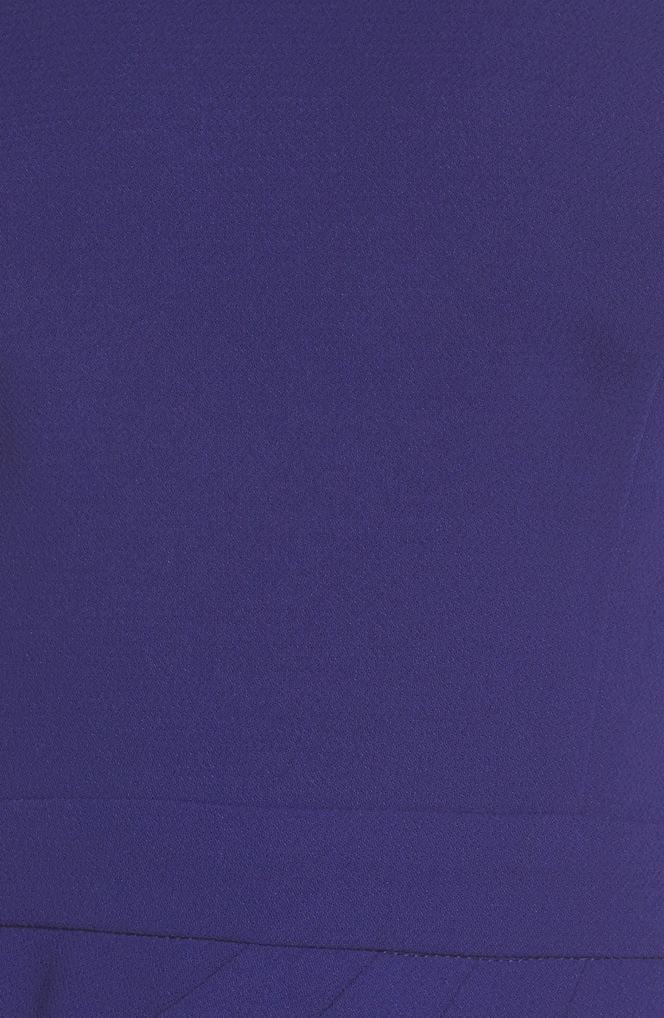 High Neck Gown,                             Alternate thumbnail 5, color,                             Royal