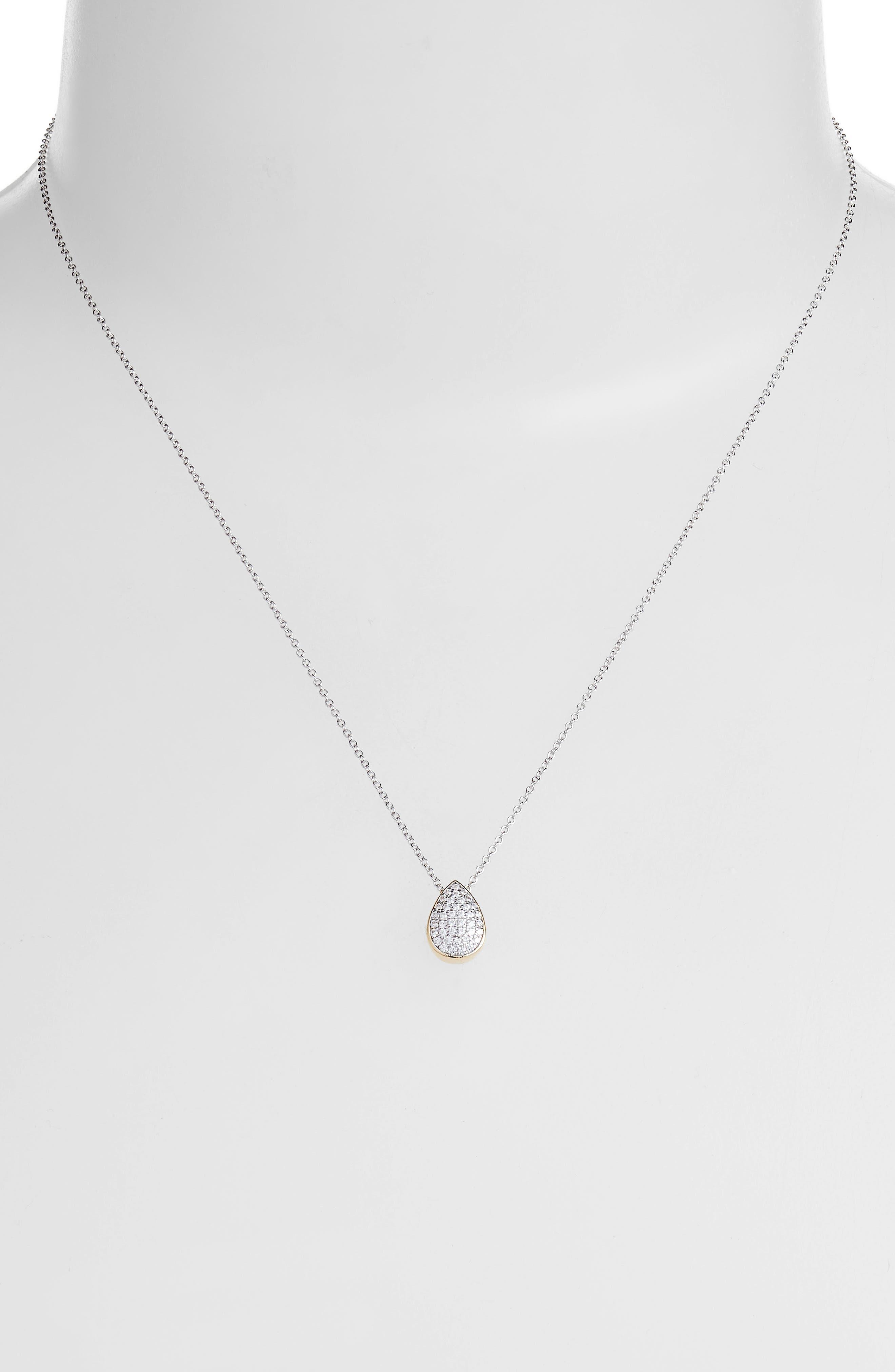 Lafonn Two-Tone Pear Shape Choker Necklace