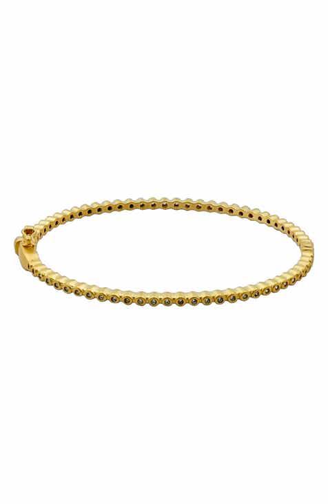 f04bc16b6534 FREIDA ROTHMAN Signature Bevel Pavé Hinge Bangle Bracelet