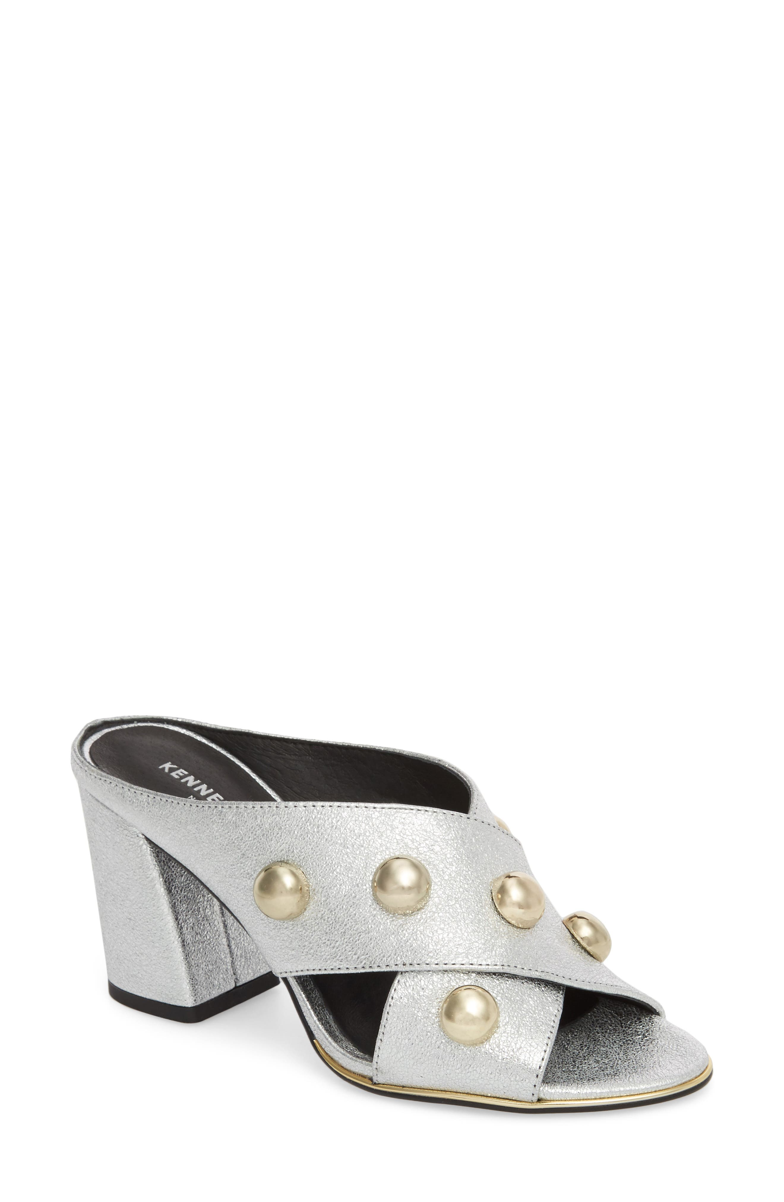 Lyra Sandal,                         Main,                         color, Silver Leather