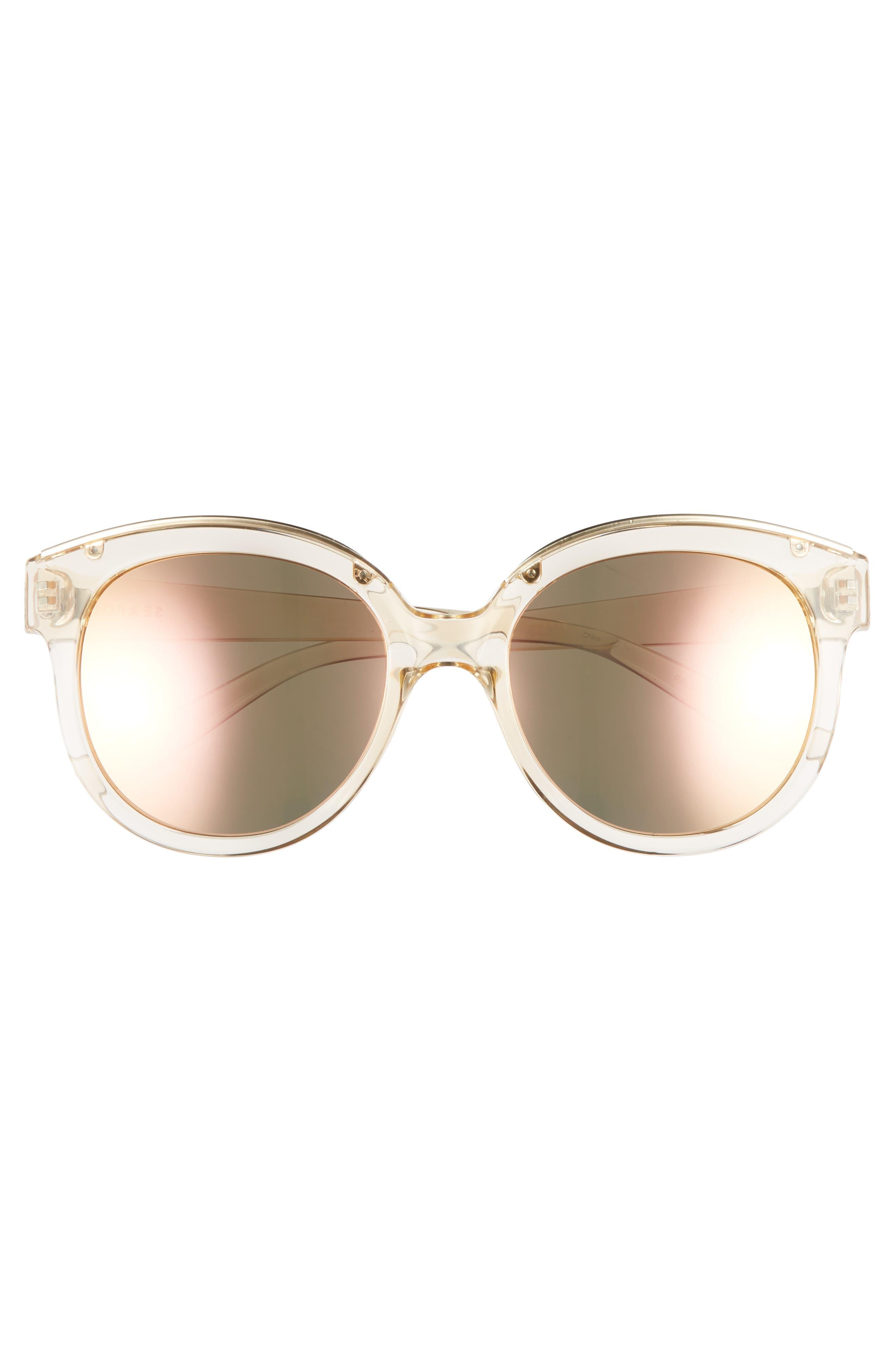 Palm Beach 54mm Cat Eye Sunglasses,                             Alternate thumbnail 3, color,                             Sand