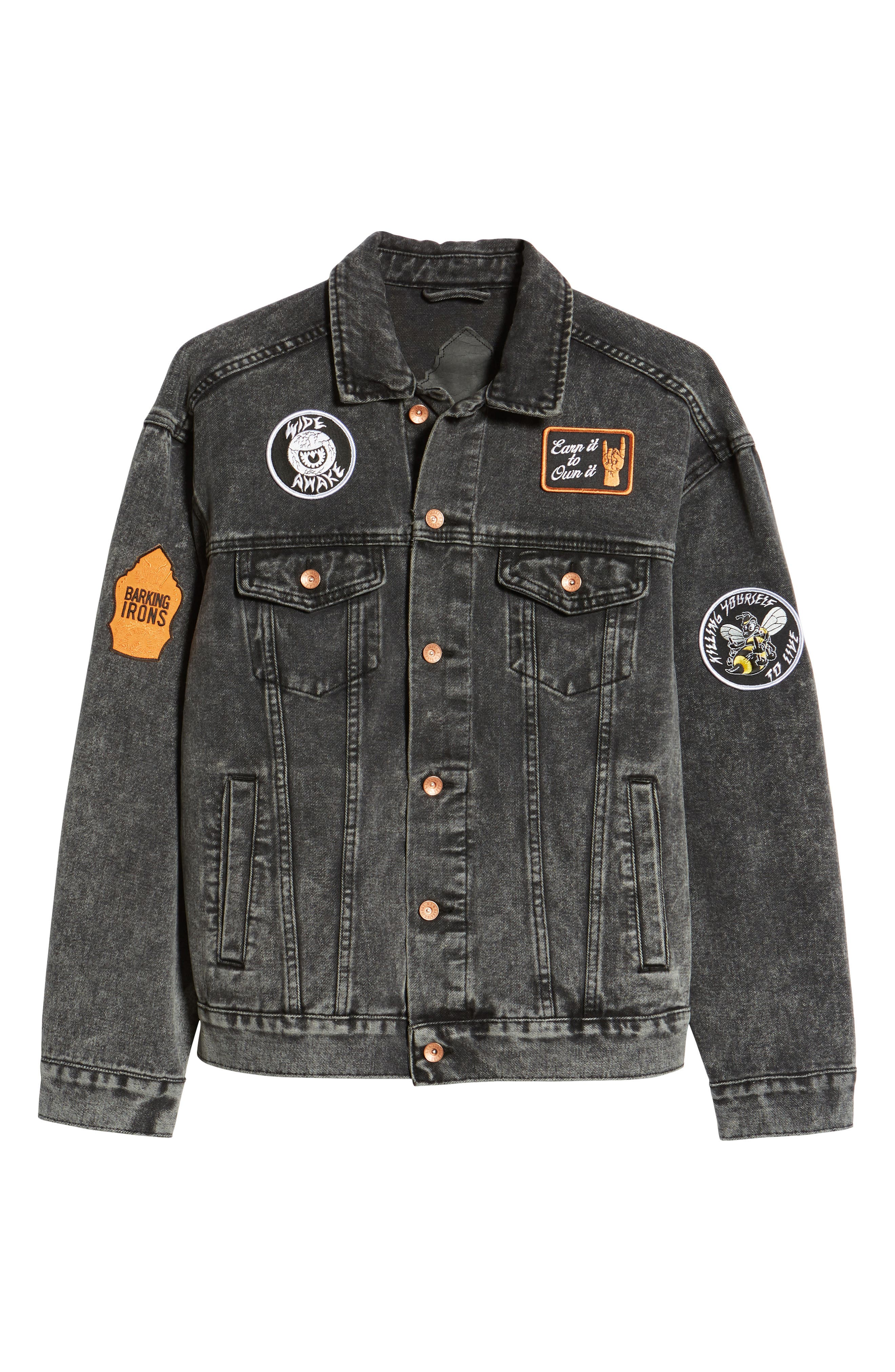 On the Bowery Denim Jacket,                             Alternate thumbnail 6, color,                             Grey Ghost