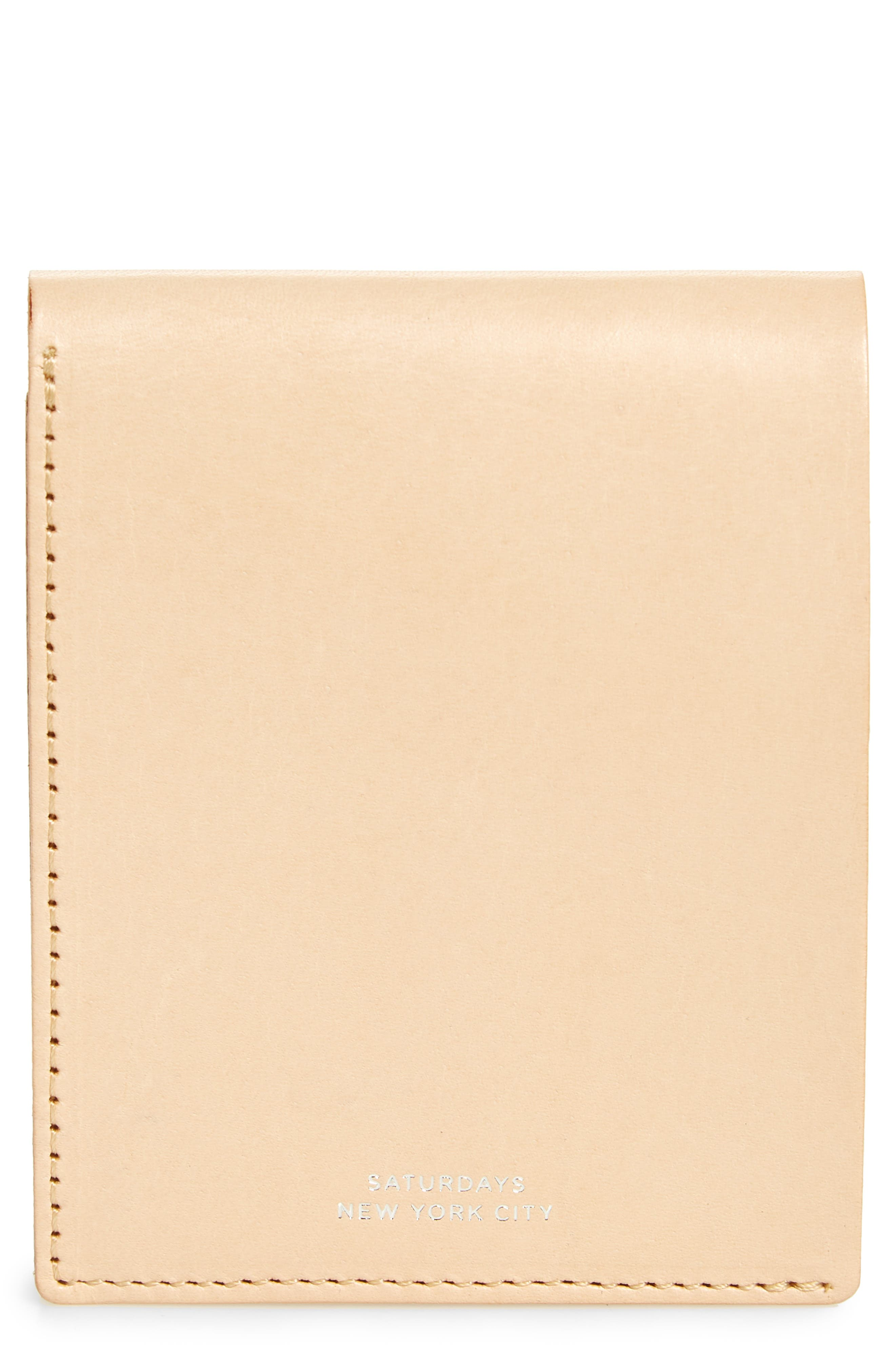 Bifold Leather Wallet,                             Main thumbnail 1, color,                             Vegetable Tan