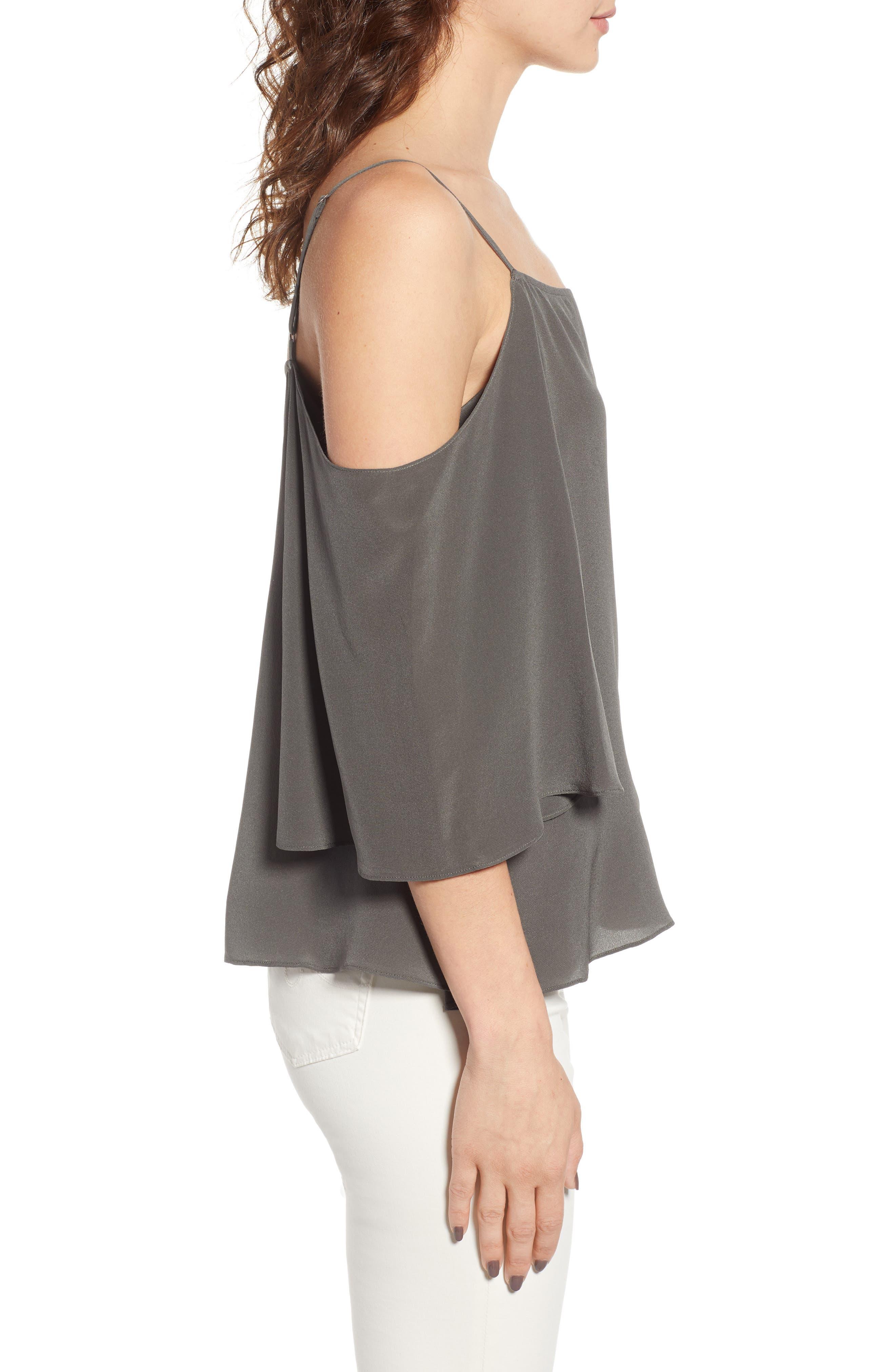 Alternate Image 3  - Bailey 44 Unforgettable Cold Shoulder Silk Top