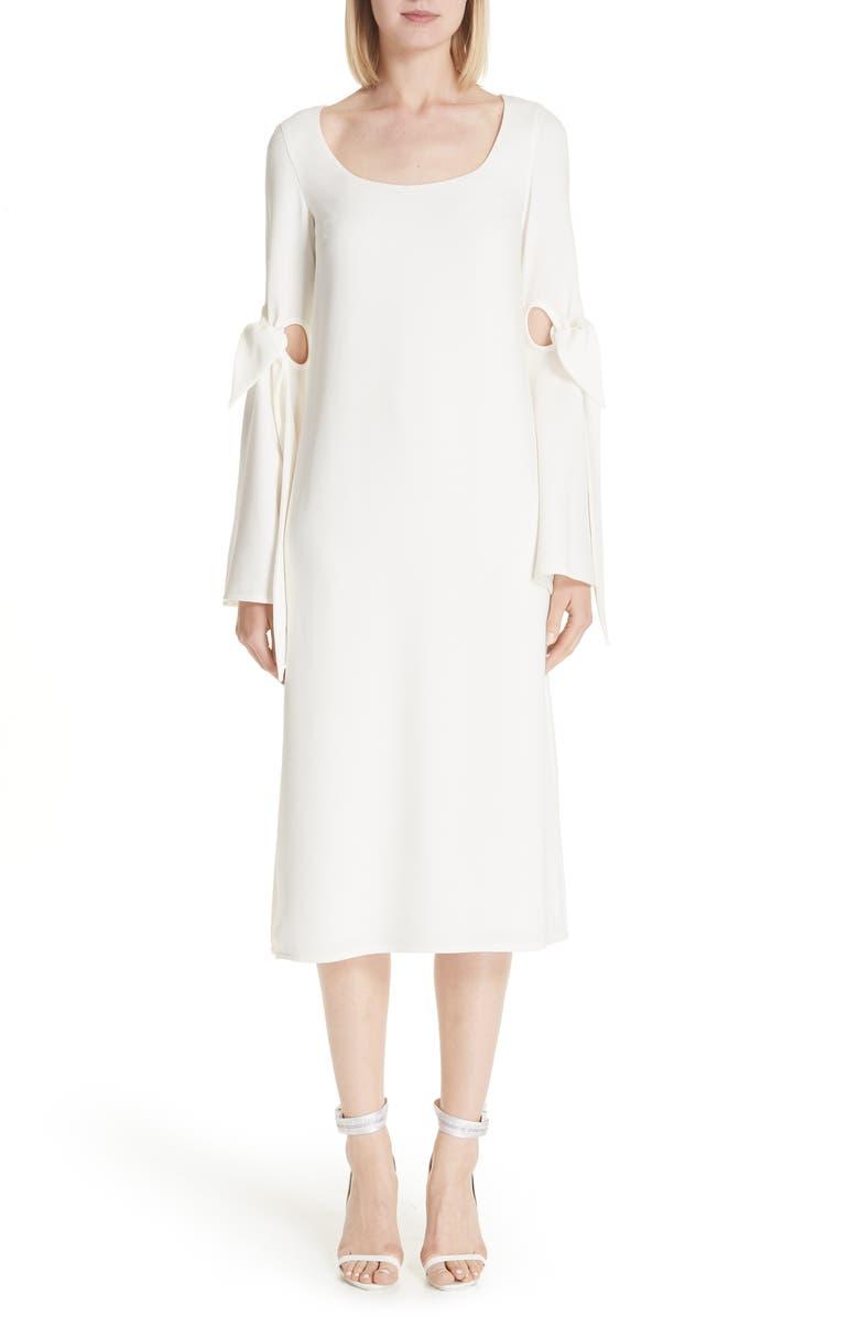 Cindy Tie Sleeve Midi Dress