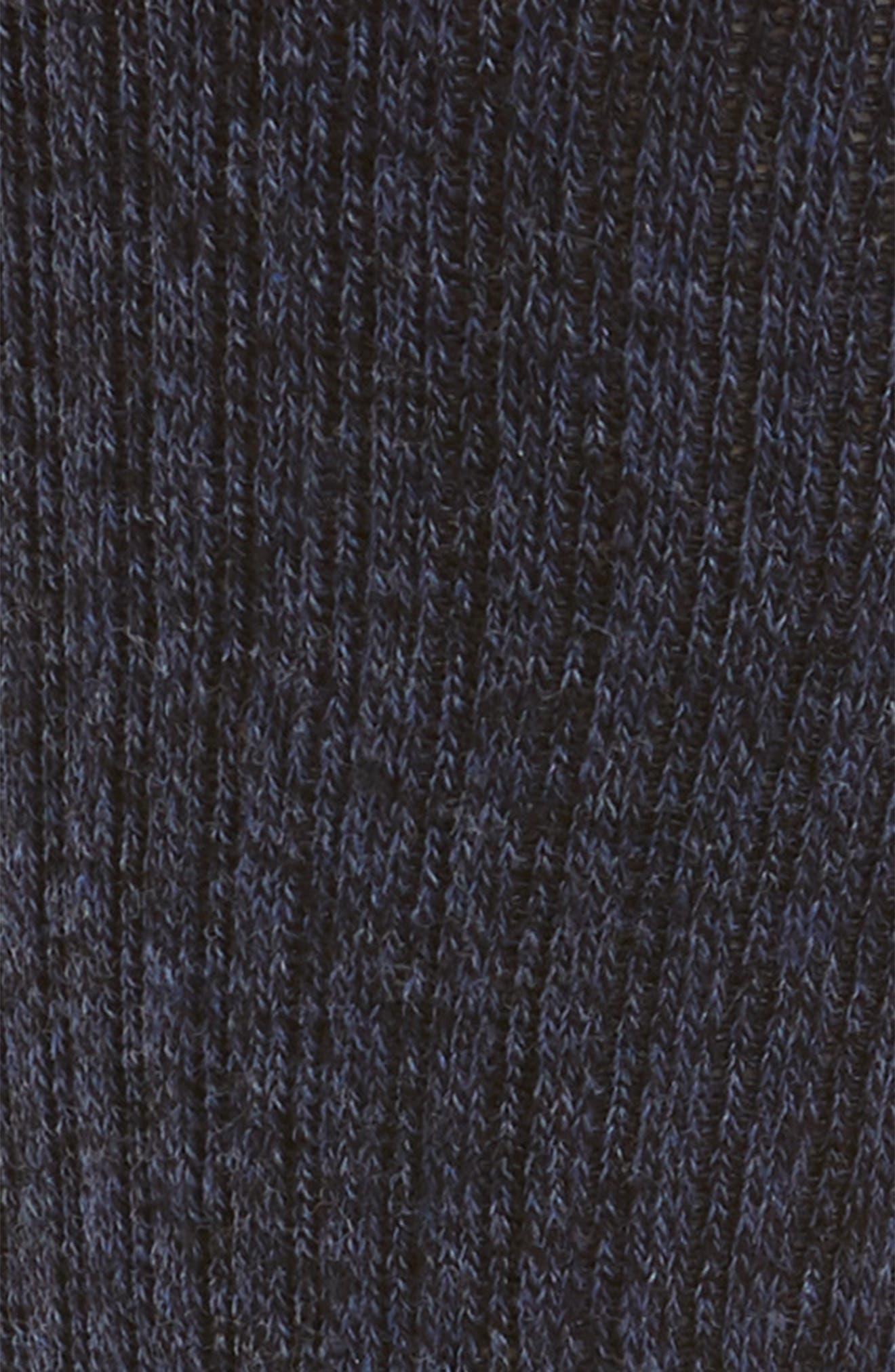 Marl Crew Socks,                             Alternate thumbnail 2, color,                             Navy