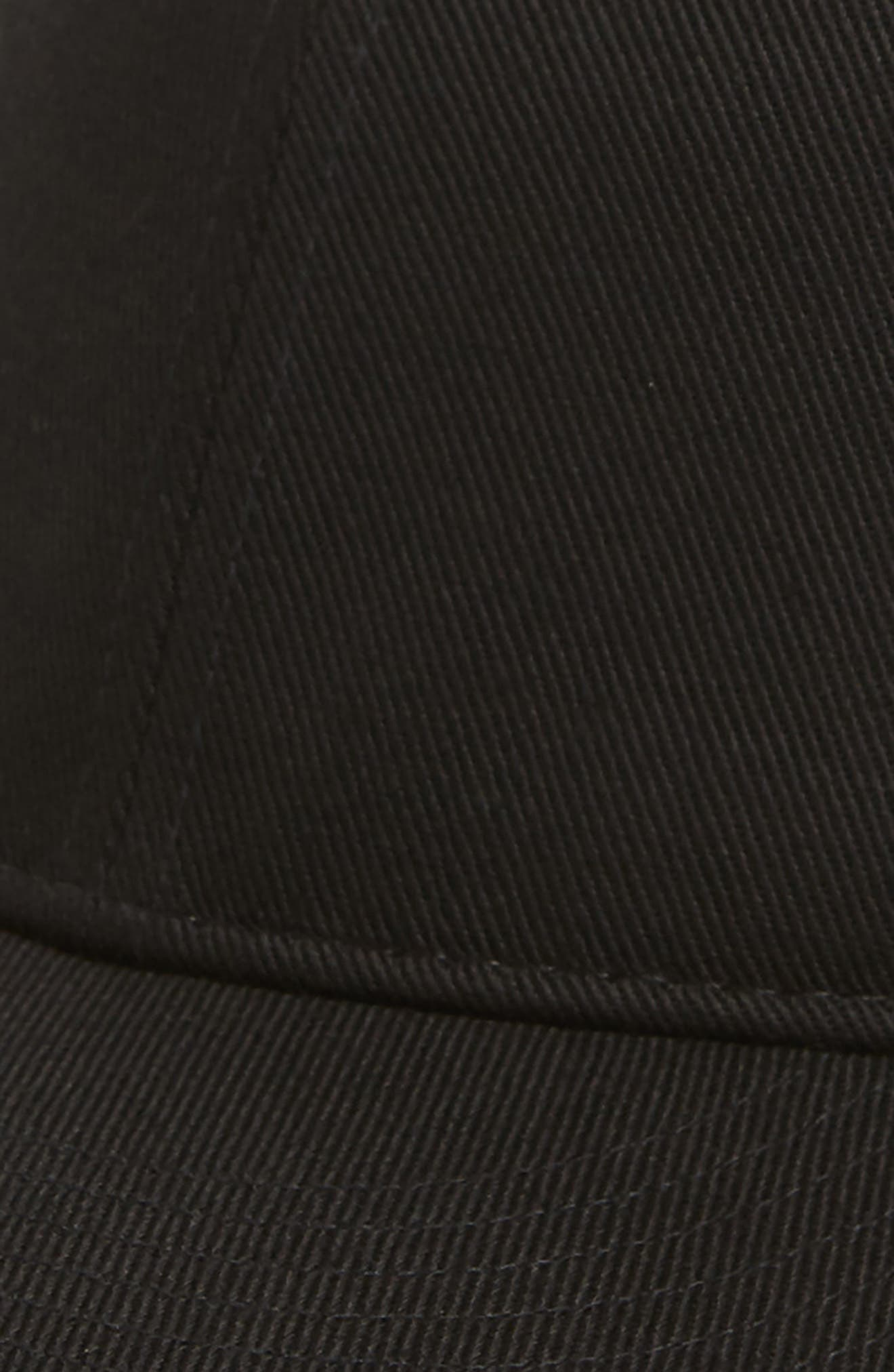 Dylan Ball Cap,                             Alternate thumbnail 3, color,                             Black Twill