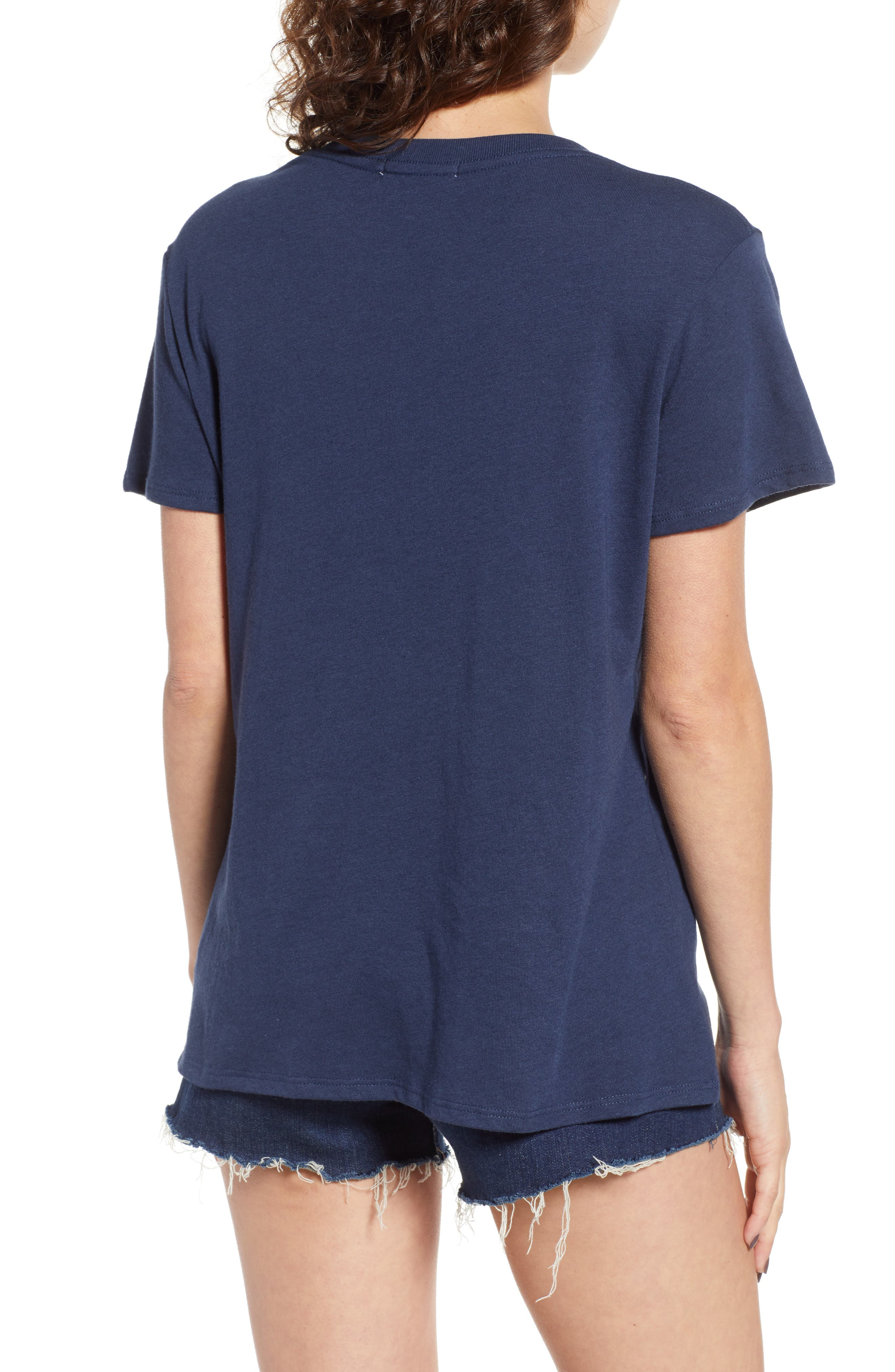 Cherry Slouched Tee,                             Alternate thumbnail 2, color,                             Navy