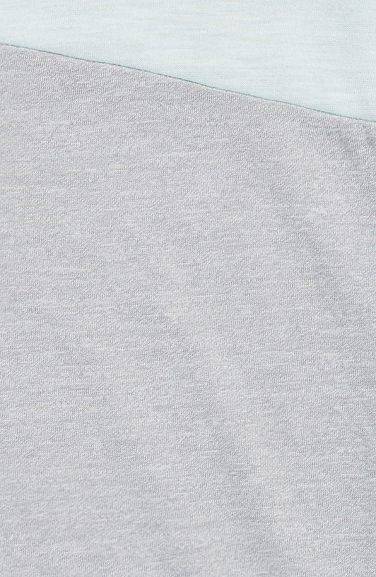Colorblock Tee,                             Alternate thumbnail 2, color,                             Grey Wolf- Teal