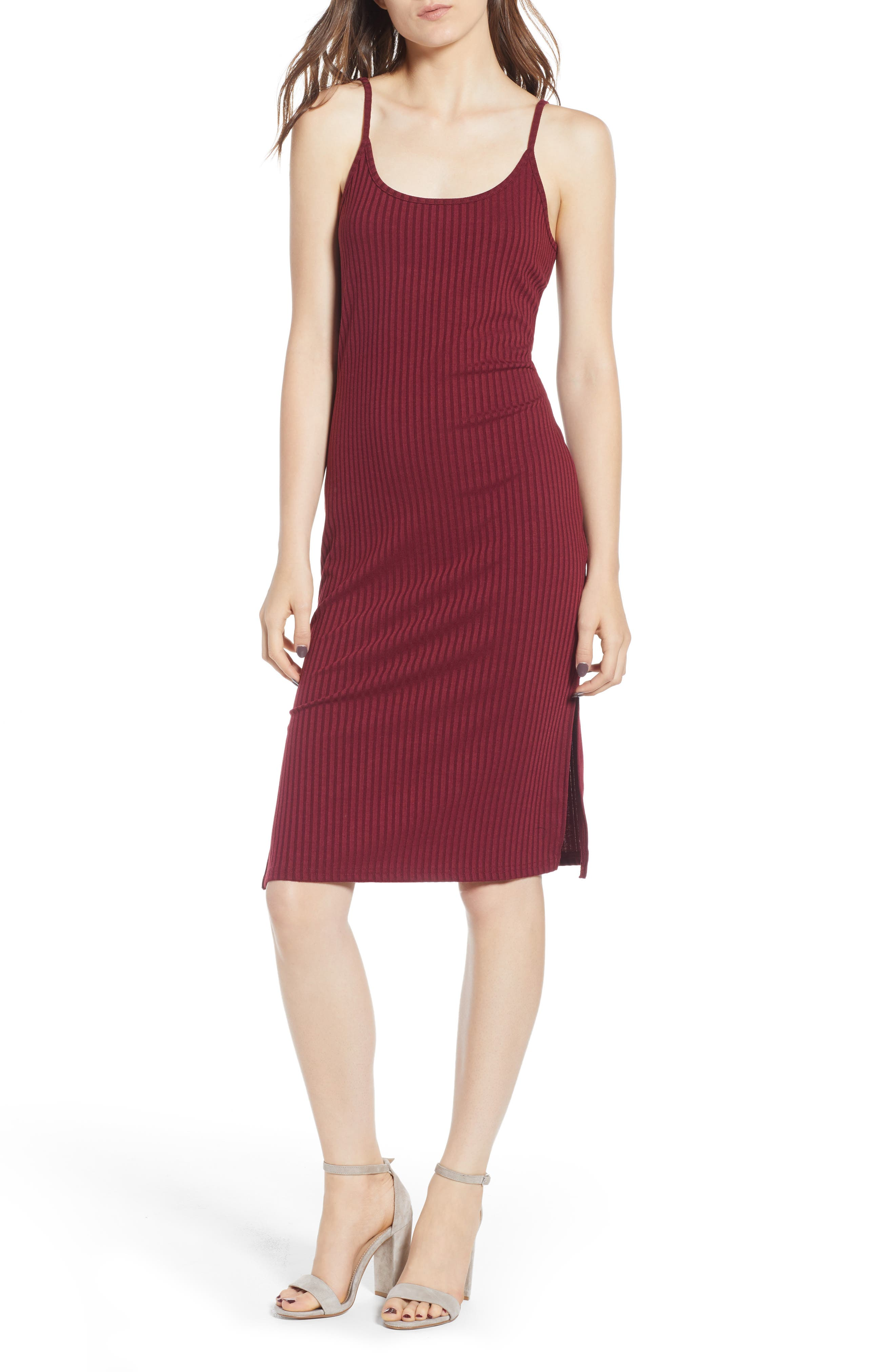 Hannah Dress,                             Main thumbnail 1, color,                             Wine