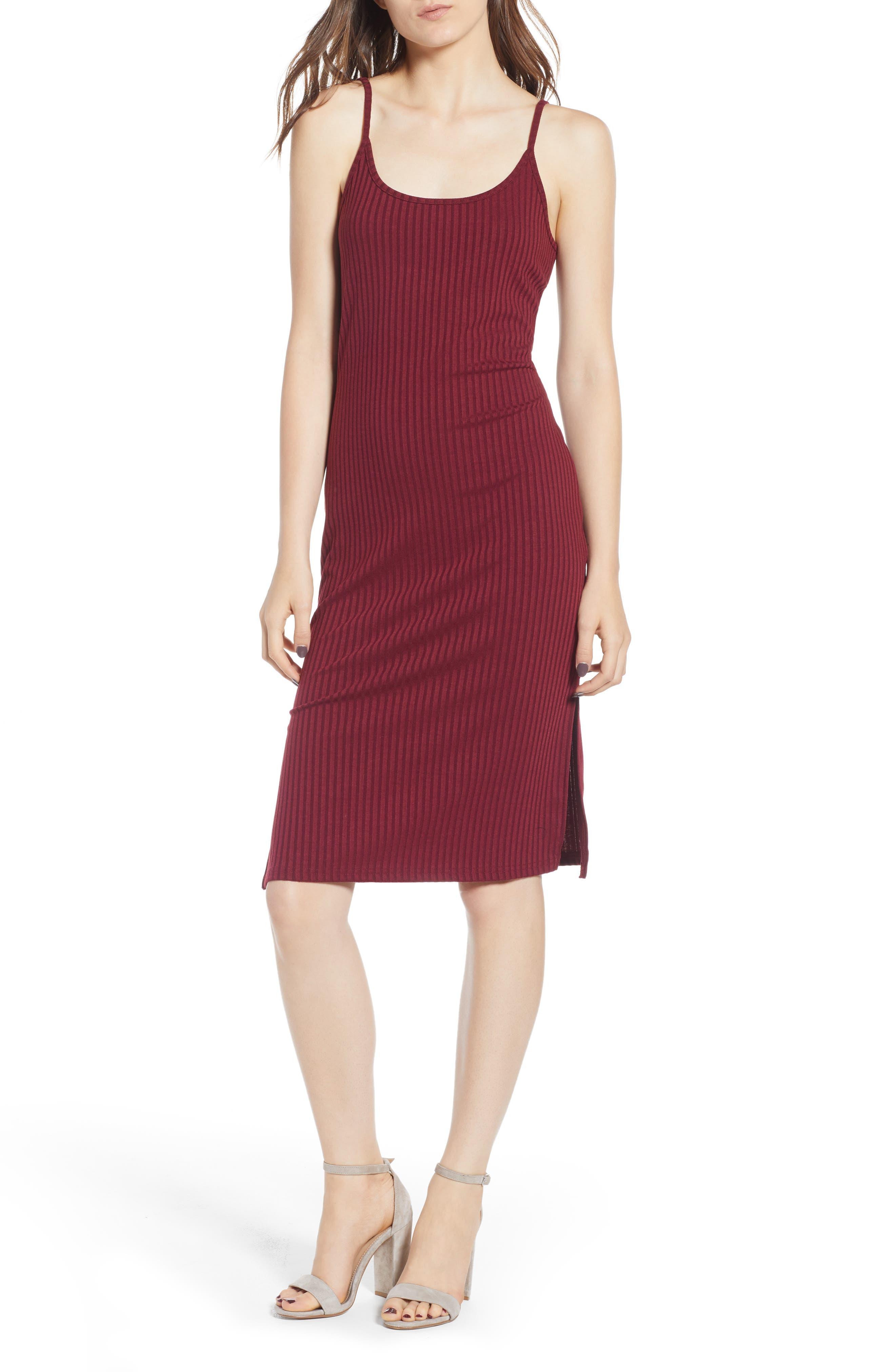 Hannah Dress,                         Main,                         color, Wine