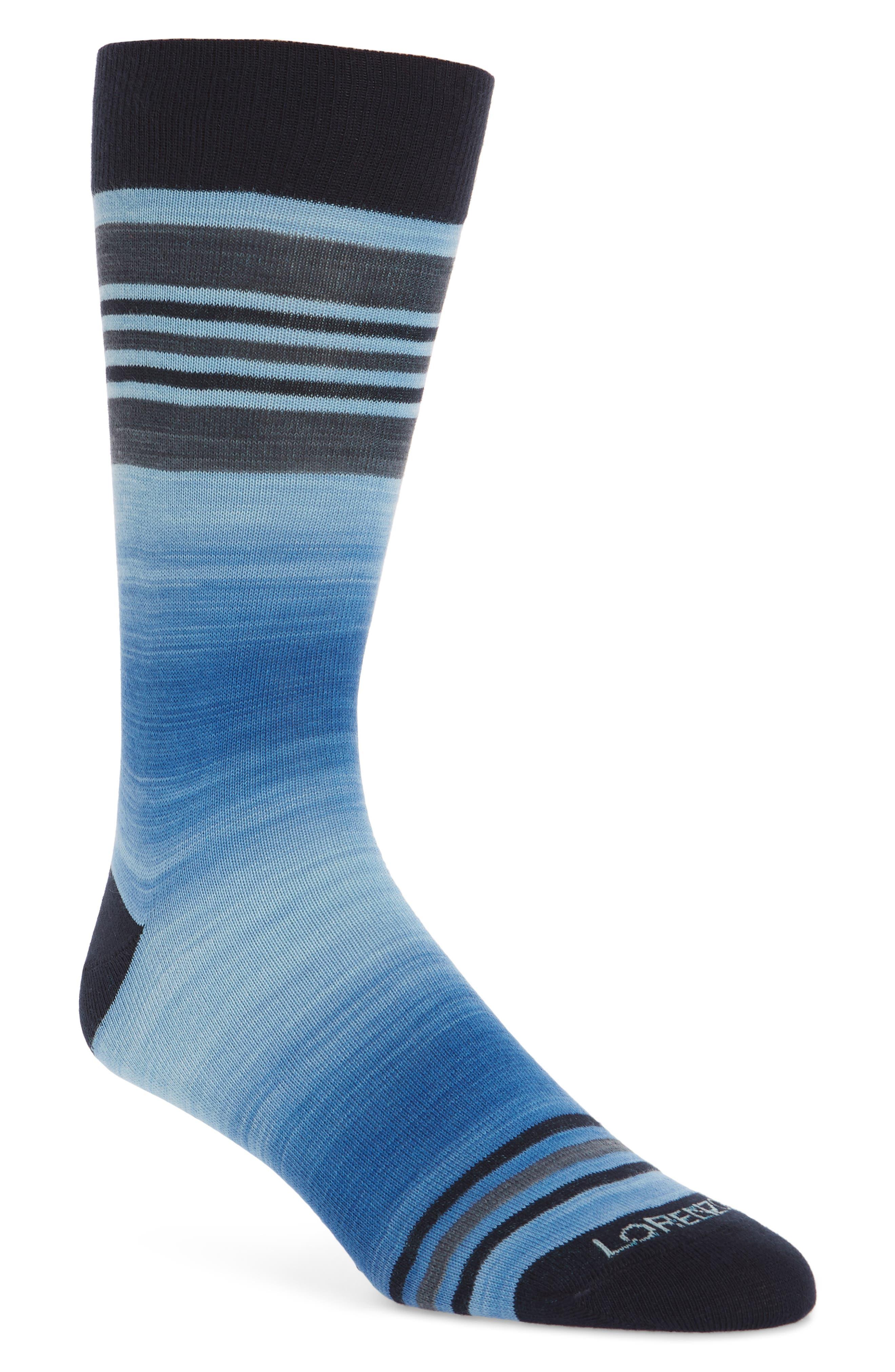 Space Dye Striped Socks,                         Main,                         color, Royal Blue