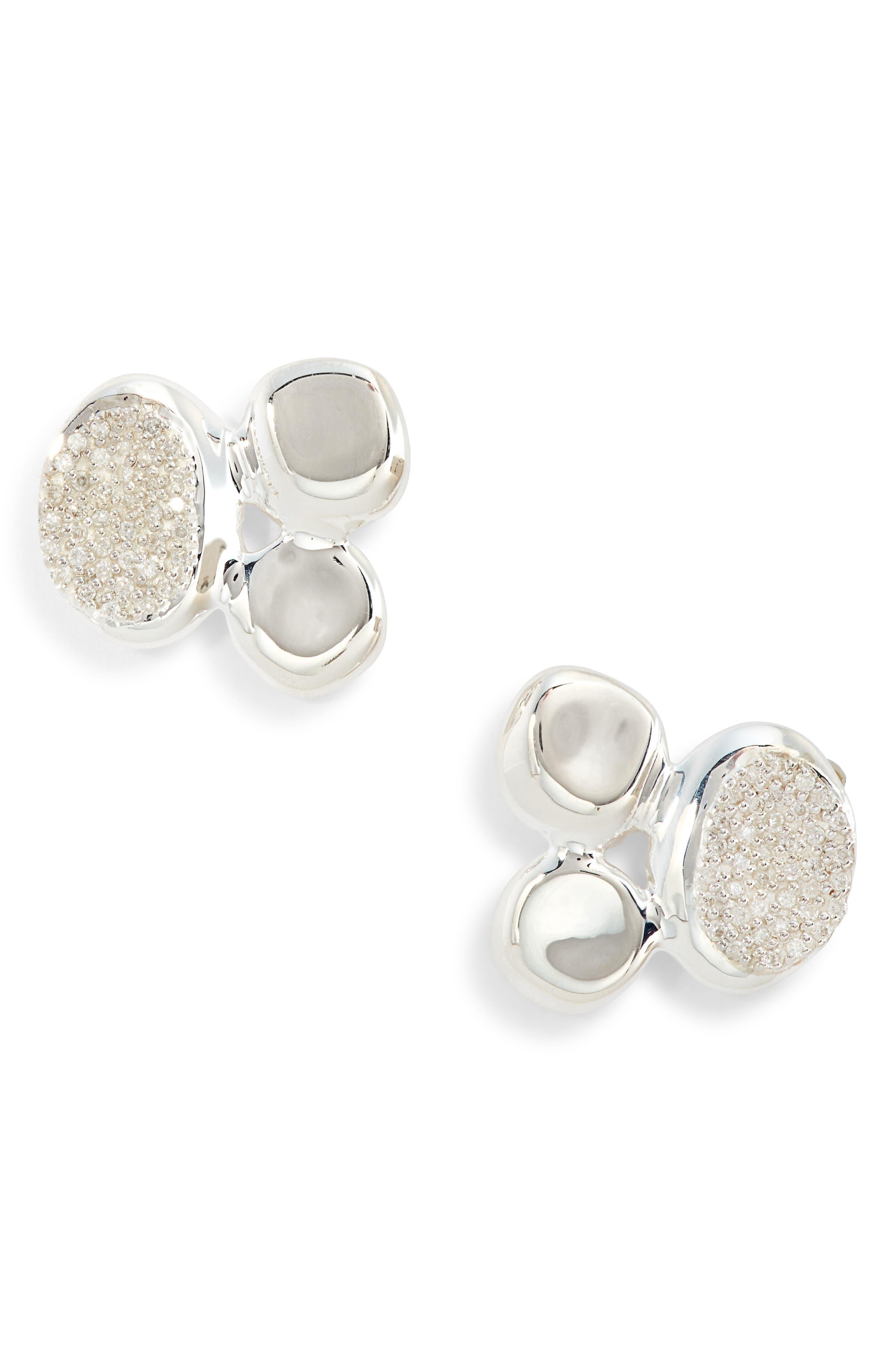 Ippolita Onda Cluster Stud Earrings