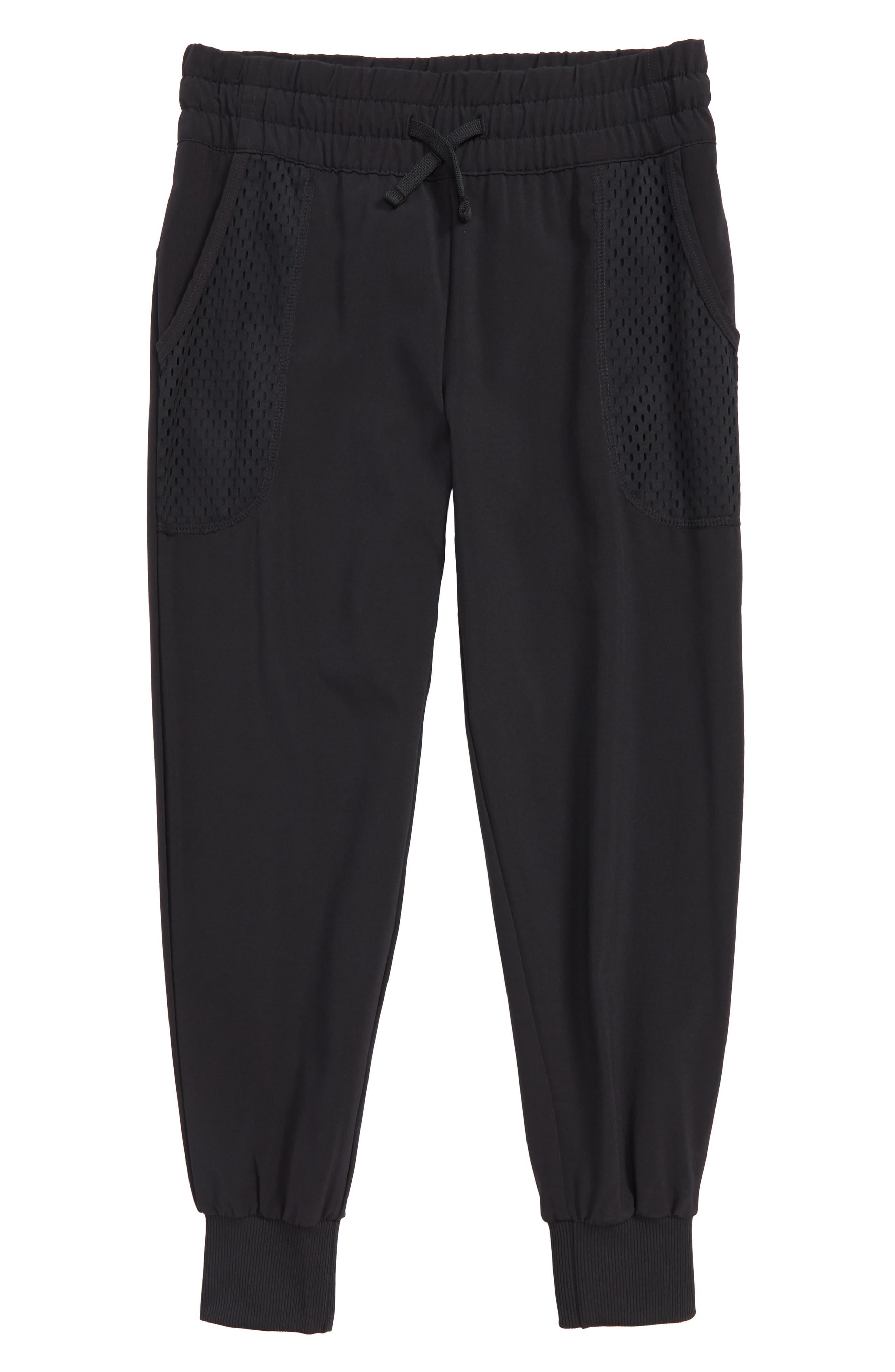 Mesh Pocket Jogger Pants,                             Main thumbnail 1, color,                             Black