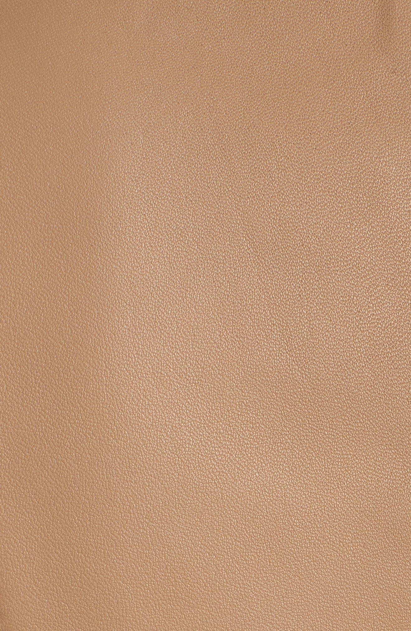 Sahota Leather Jacket,                             Alternate thumbnail 6, color,                             Warm Clay