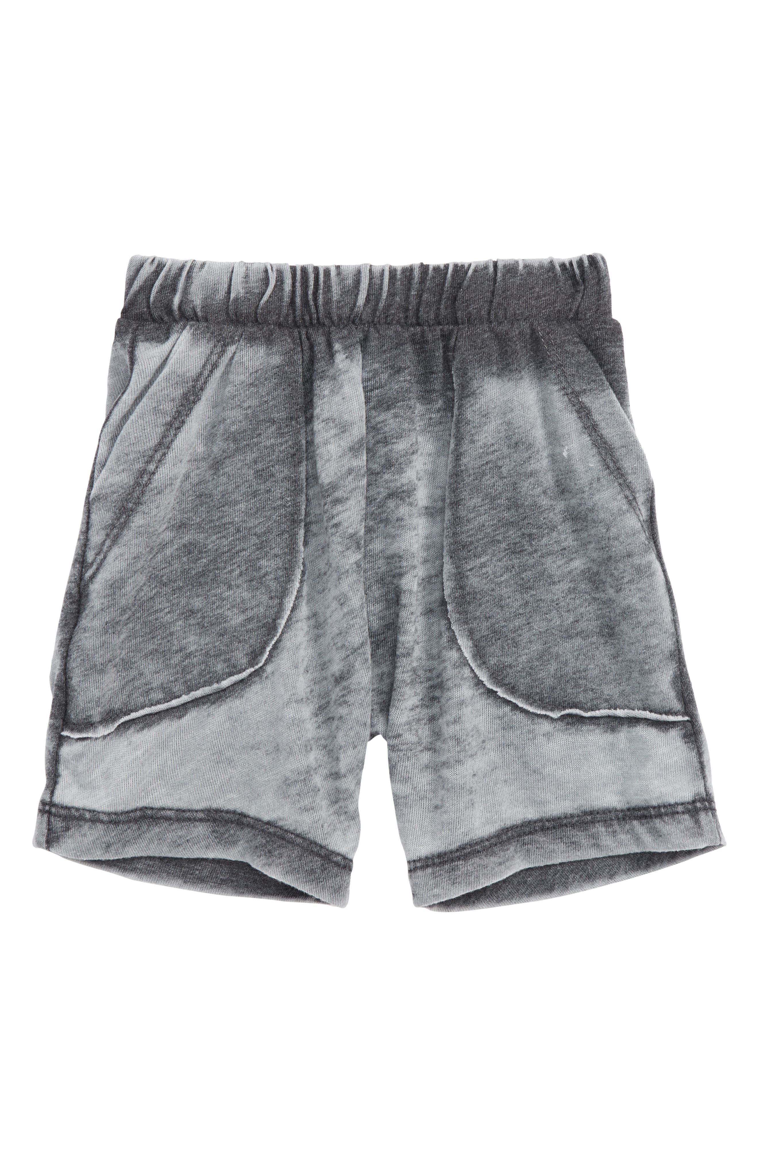 Knit Shorts,                         Main,                         color, Smokey Black