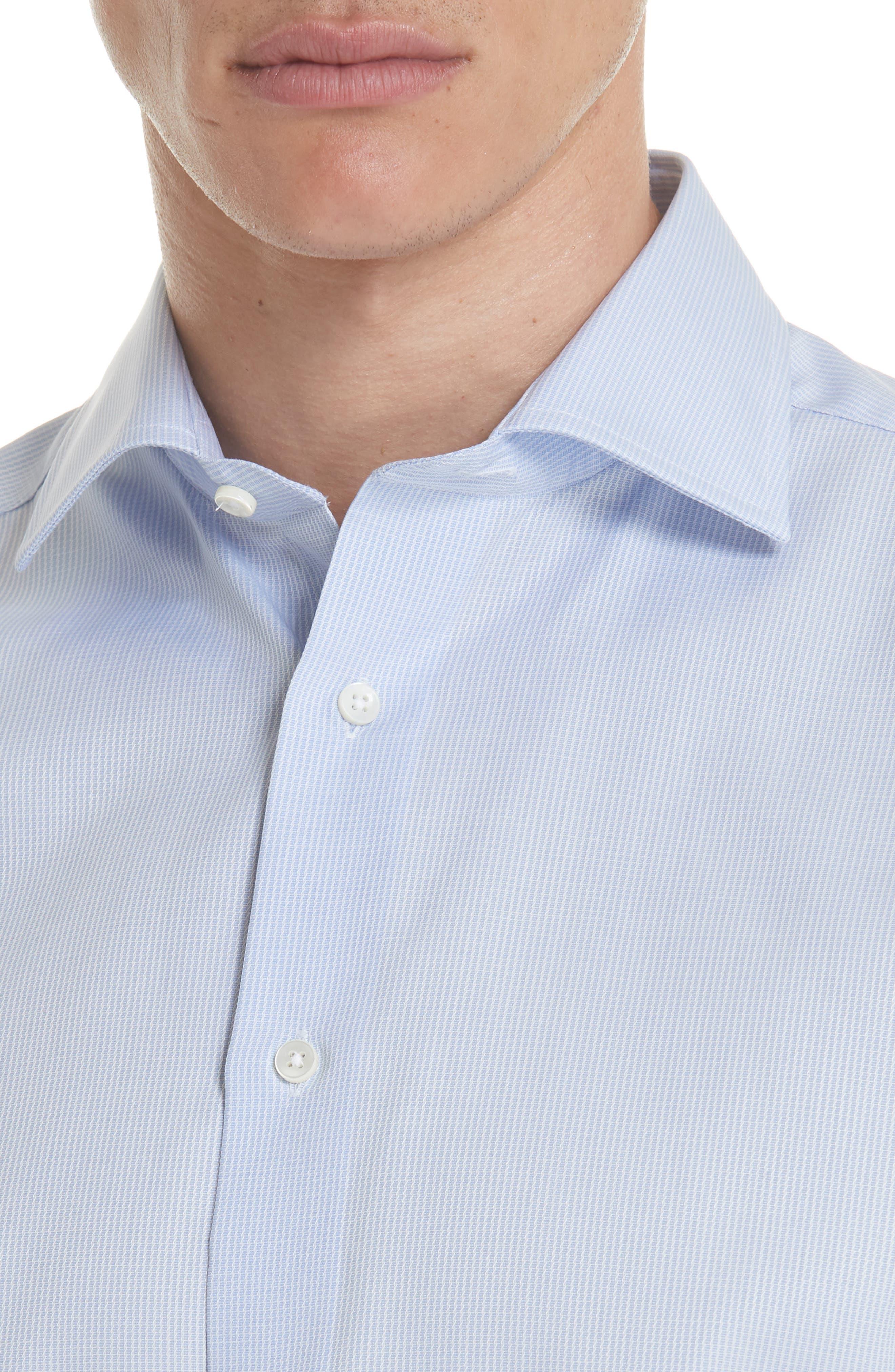 Regular Fit Print Dress Shirt,                             Alternate thumbnail 2, color,                             Blue