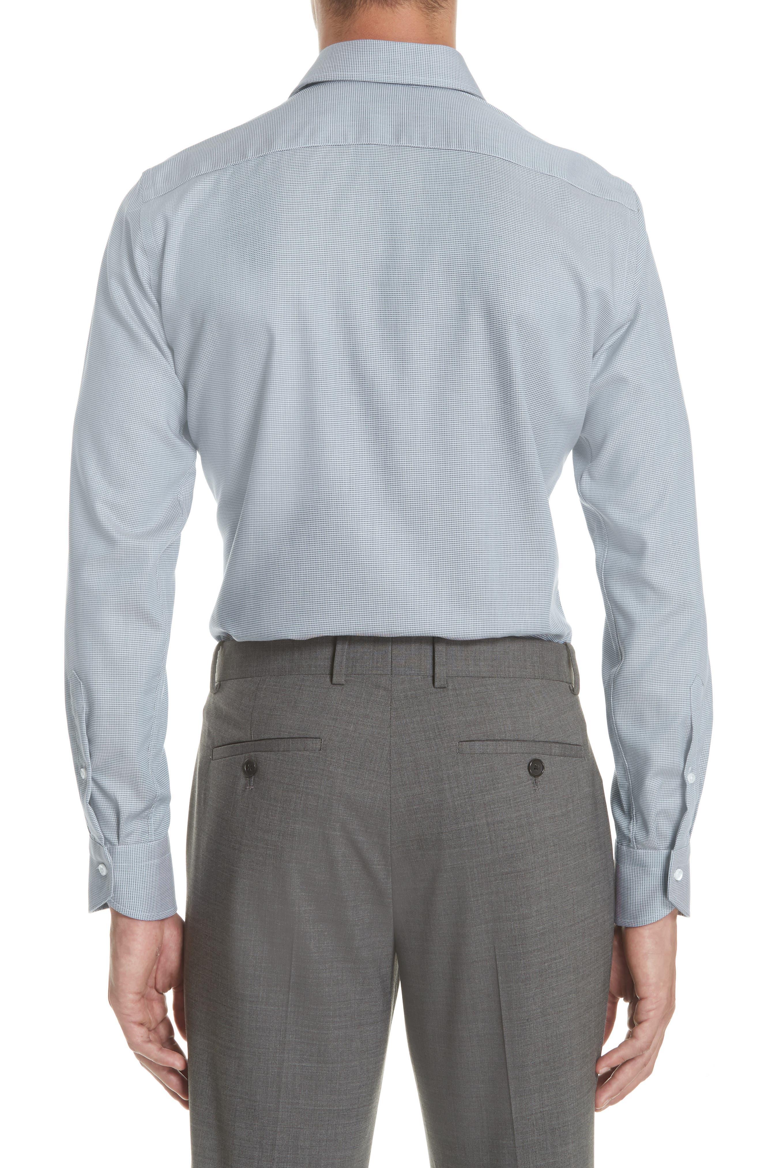 Regular Fit Solid Dress Shirt,                             Alternate thumbnail 3, color,                             Brown