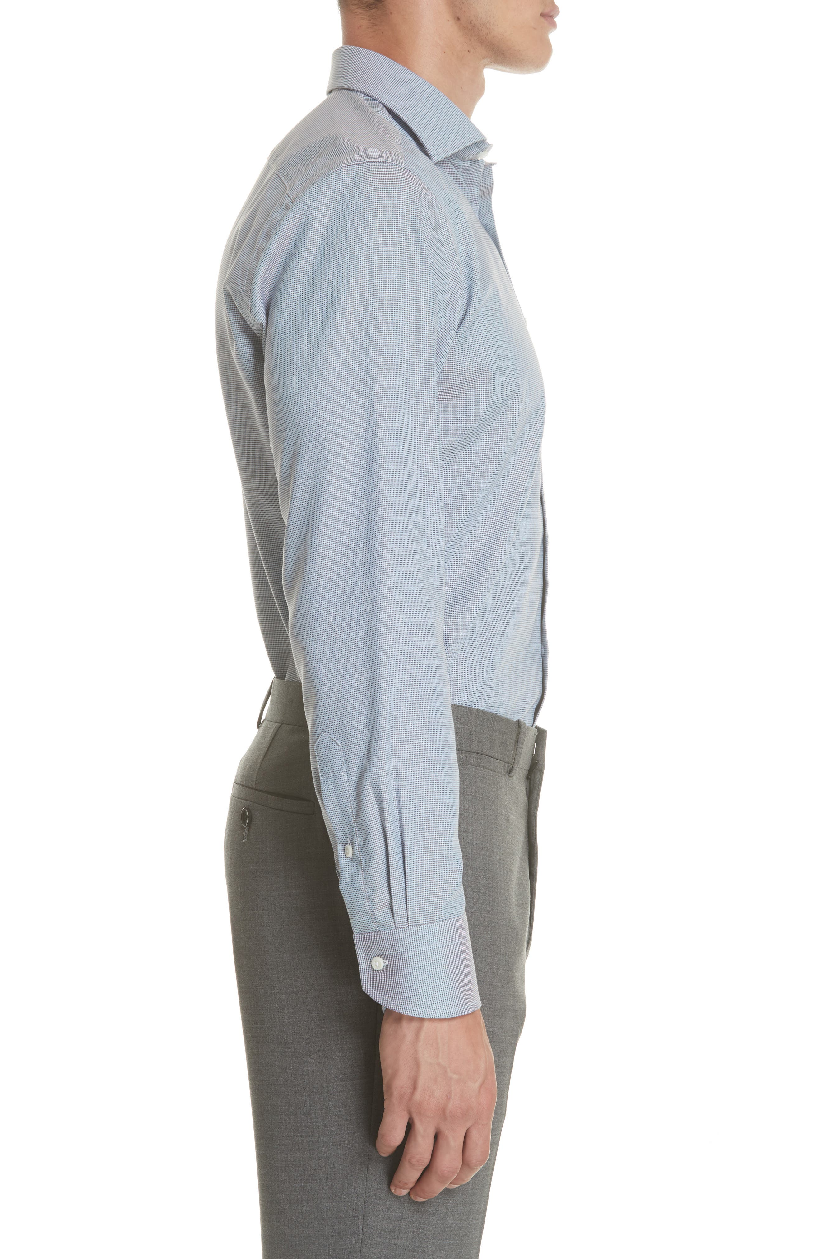 Regular Fit Solid Dress Shirt,                             Alternate thumbnail 4, color,                             Brown