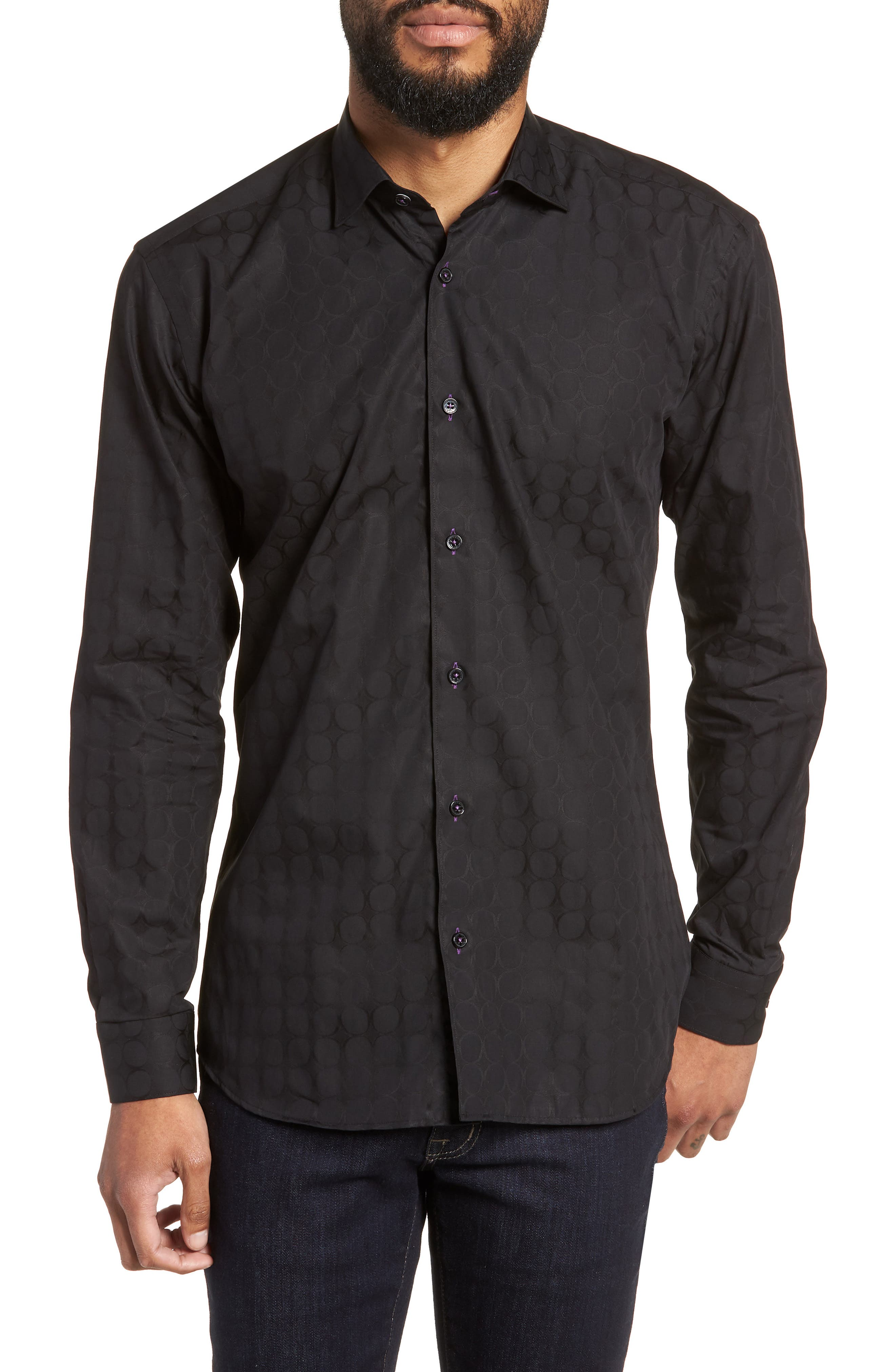 Luxor Bond Sport Shirt,                             Main thumbnail 1, color,                             Black