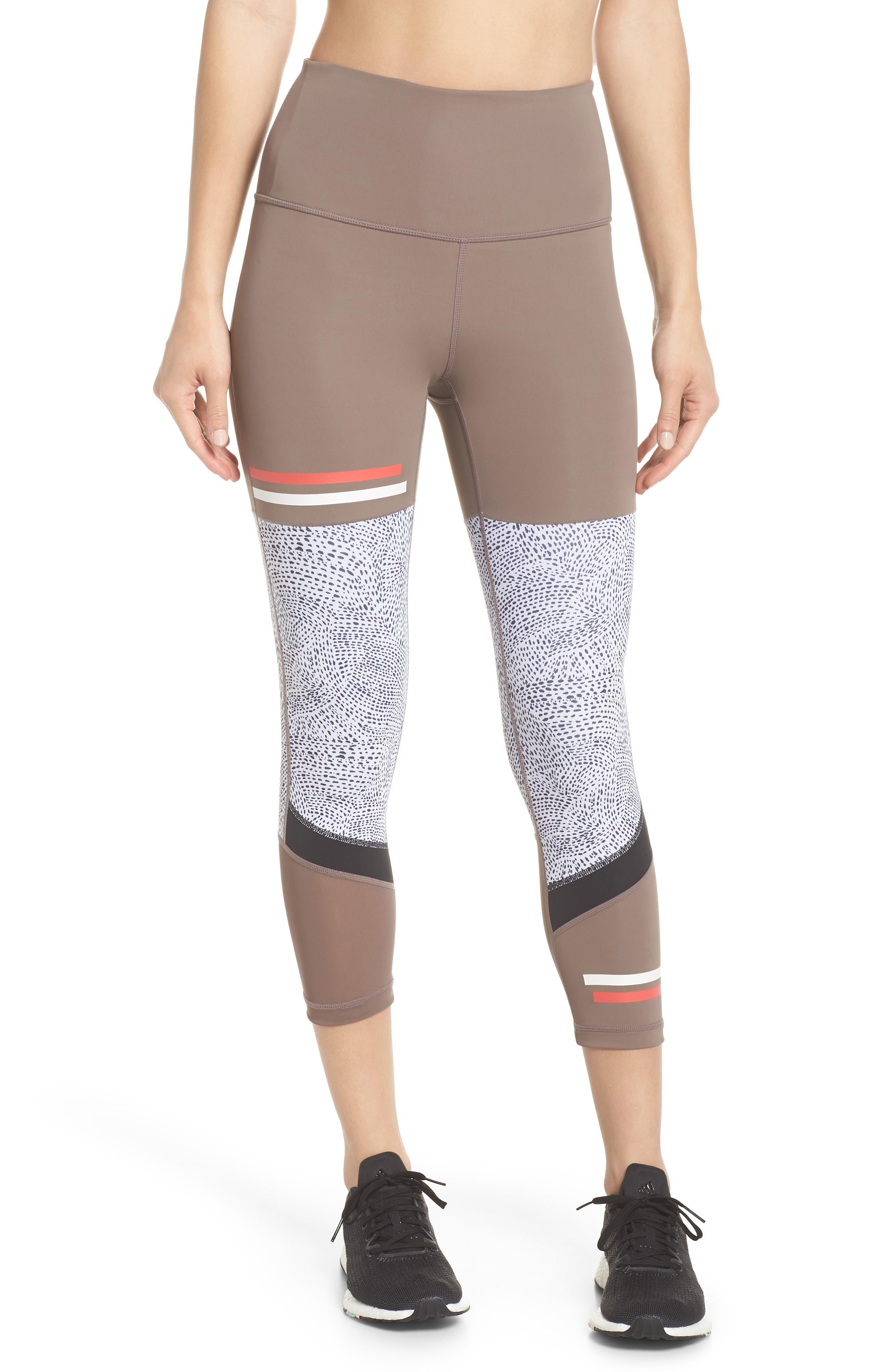 Senso Vision High Waist Crop Leggings,                         Main,                         color, Tan Dusk