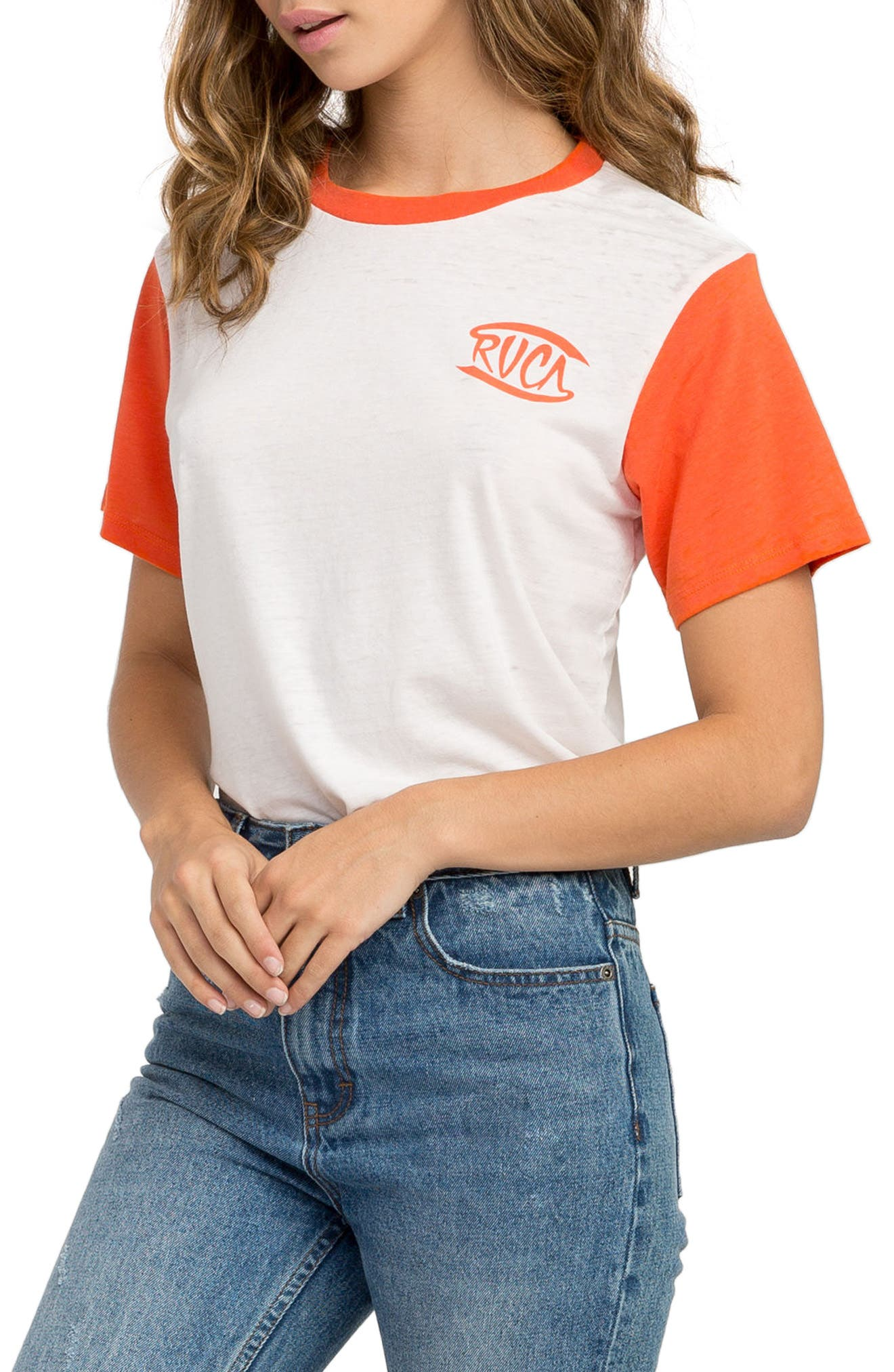 Clutch Graphic Tee,                             Alternate thumbnail 3, color,                             Chili