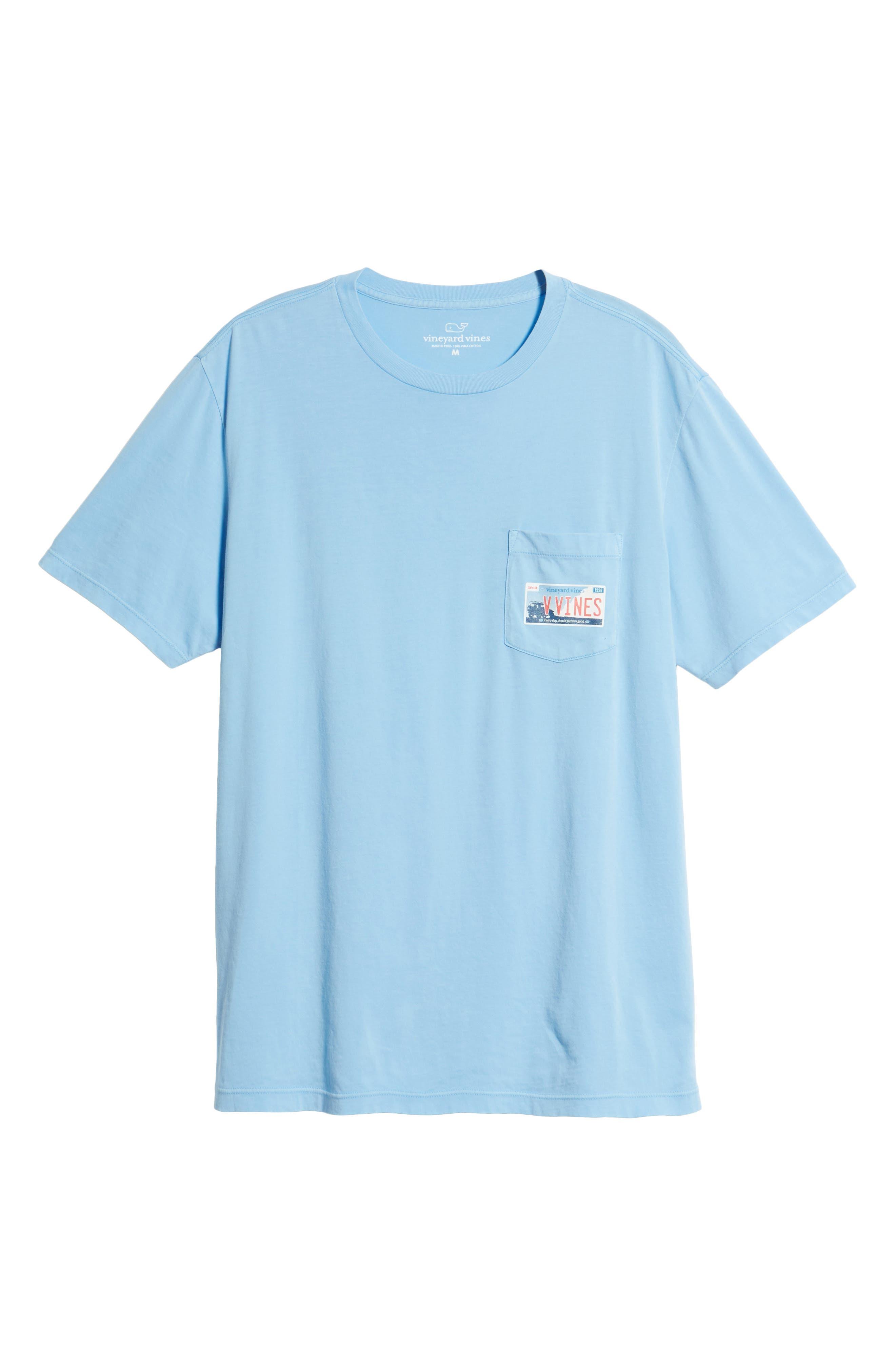 Tie Guys Plate Regular Fit Crewneck T-Shirt,                             Alternate thumbnail 6, color,                             Jake Blue