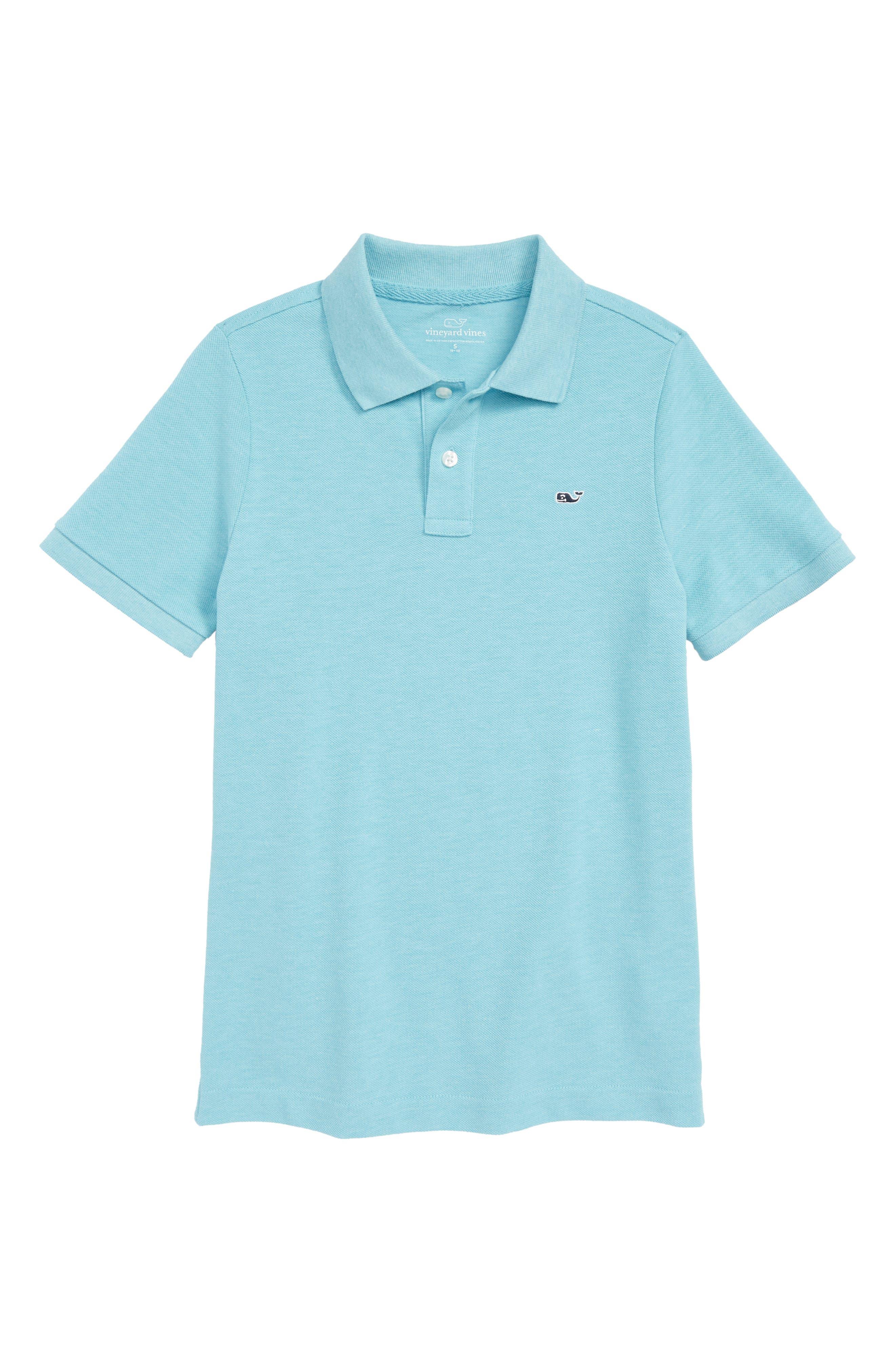 Stretch Piqué Polo,                         Main,                         color, Turquoise