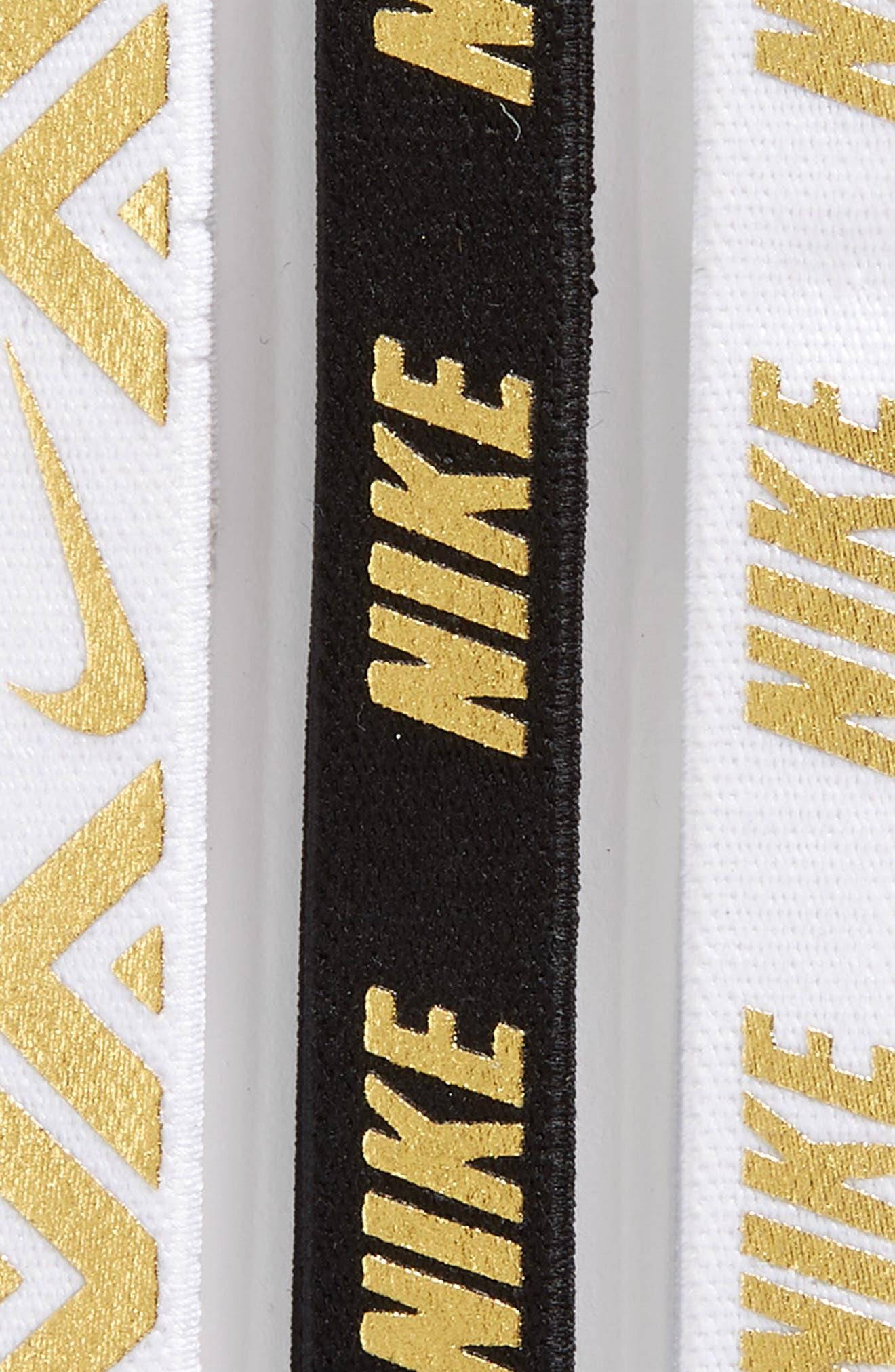 3-Pack Headbands,                             Alternate thumbnail 2, color,                             White/ White/ Black