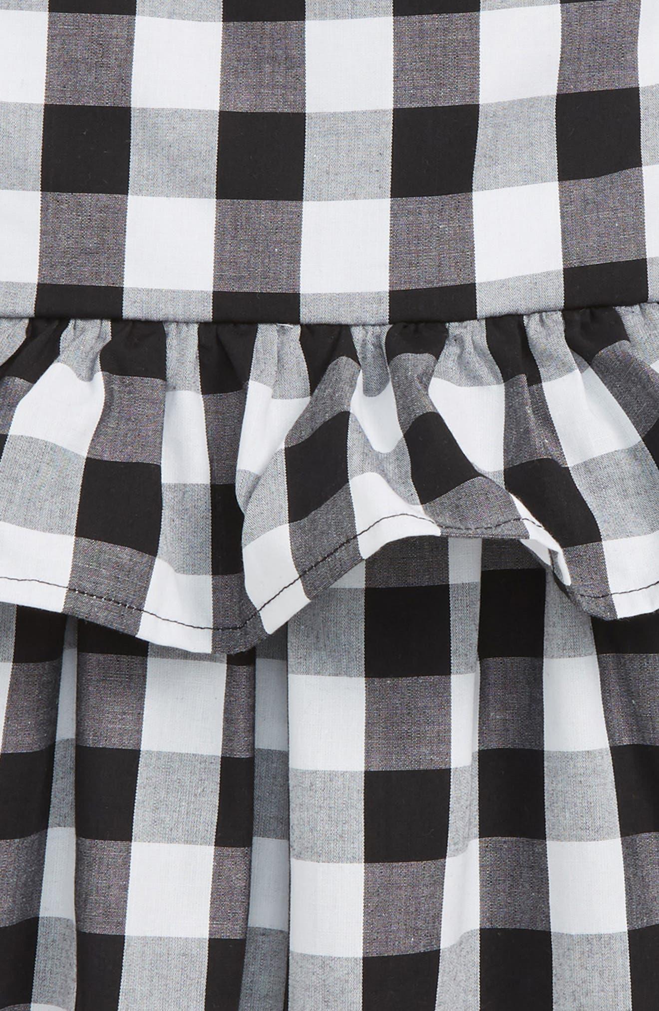 gingham sundress,                             Alternate thumbnail 2, color,                             Fresh White/ Black