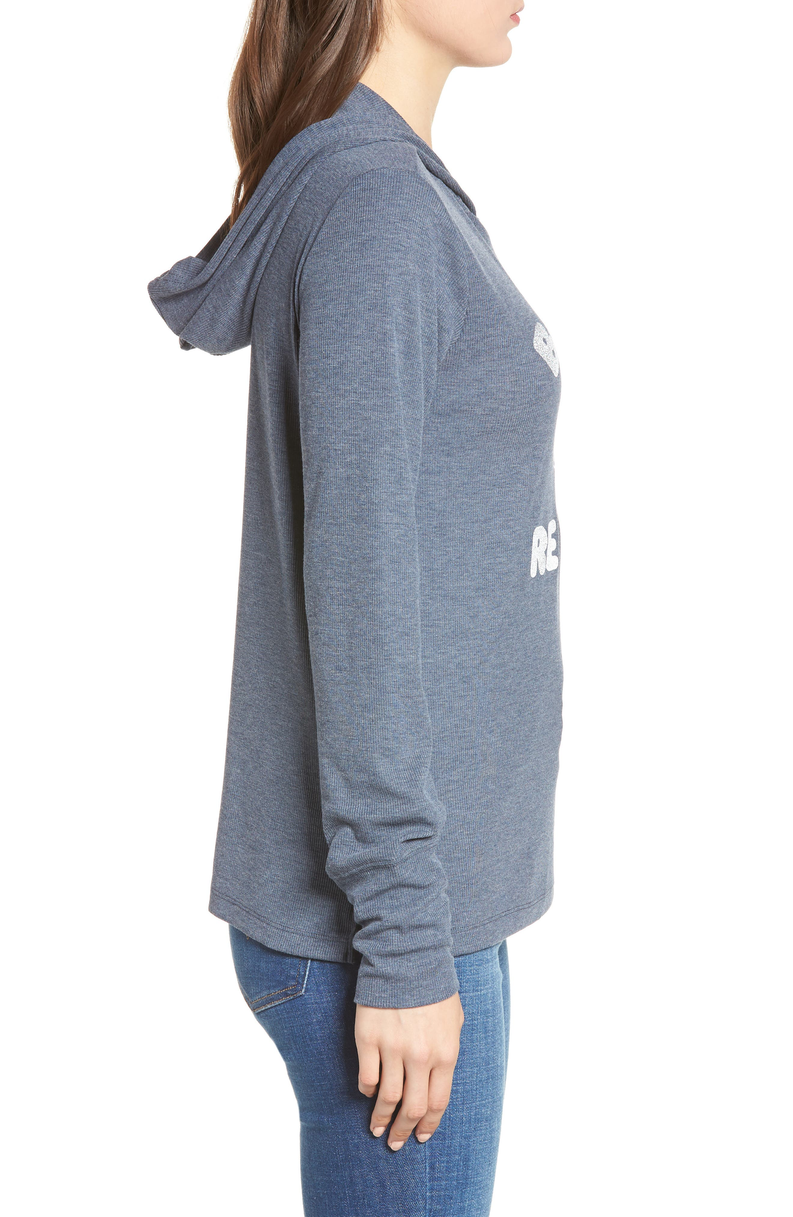 Campbell Boston Red Sox Rib Knit Hooded Top,                             Alternate thumbnail 3, color,                             Midnight