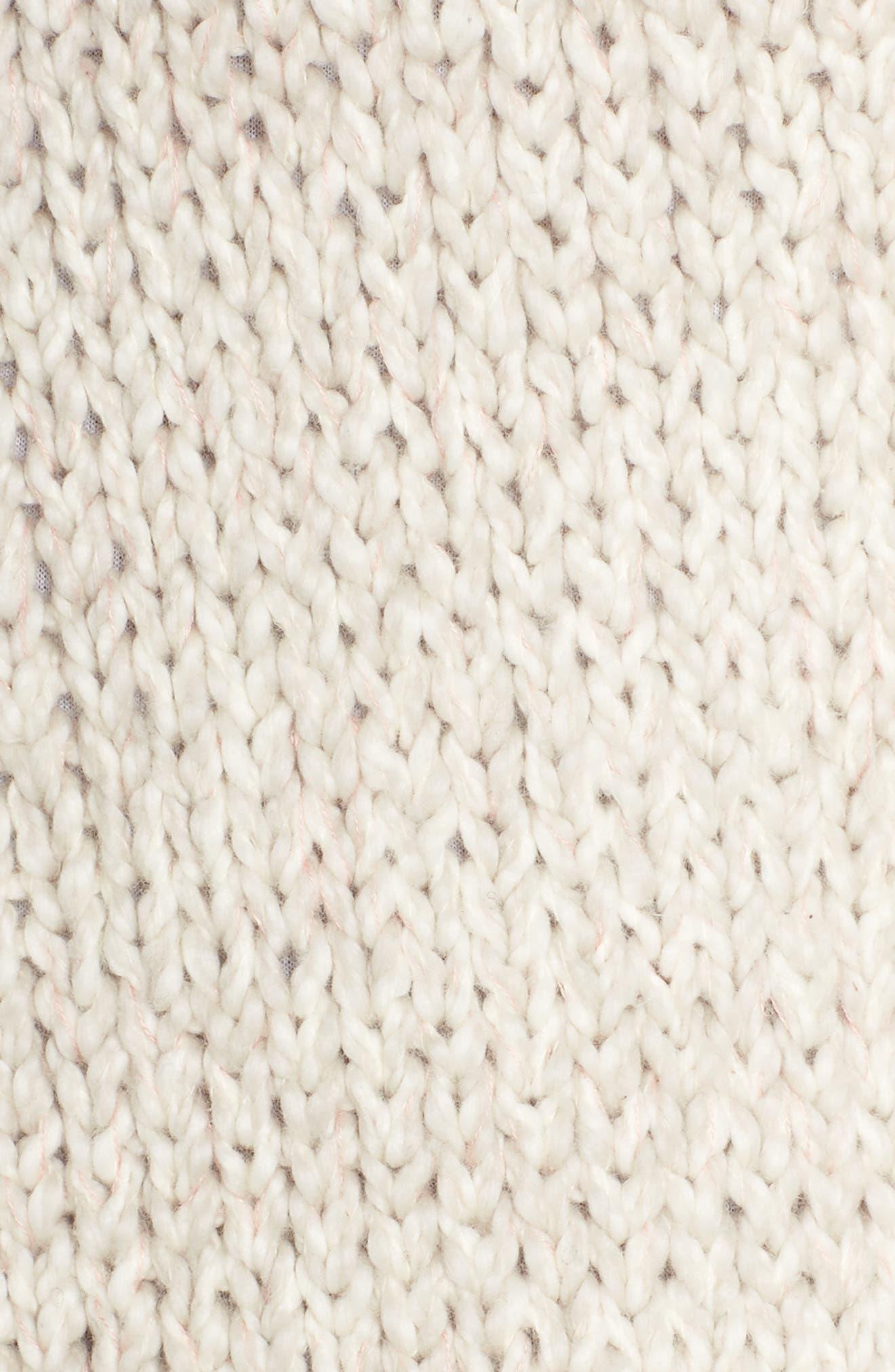 Kadia Organic Cotton Wrap,                             Alternate thumbnail 5, color,                             Gardenia Melange