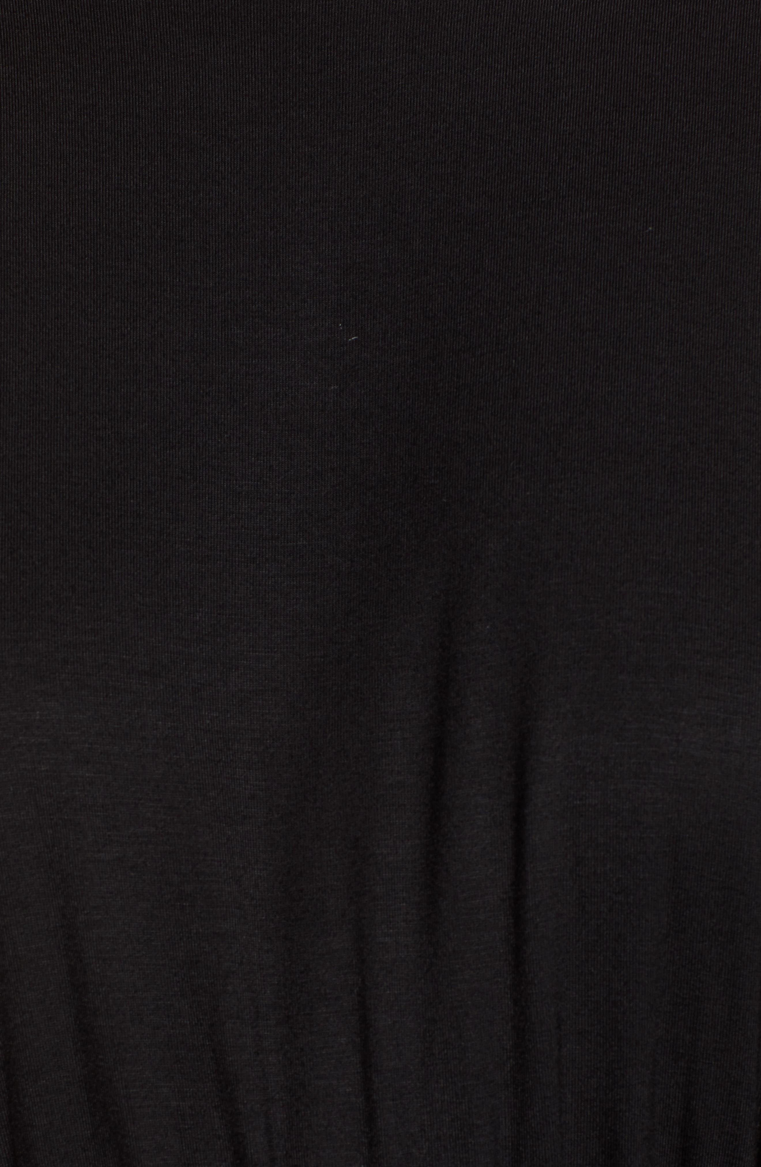 Bishop + Young Slit Sleeve Wrap Style Dress,                             Alternate thumbnail 3, color,                             Black