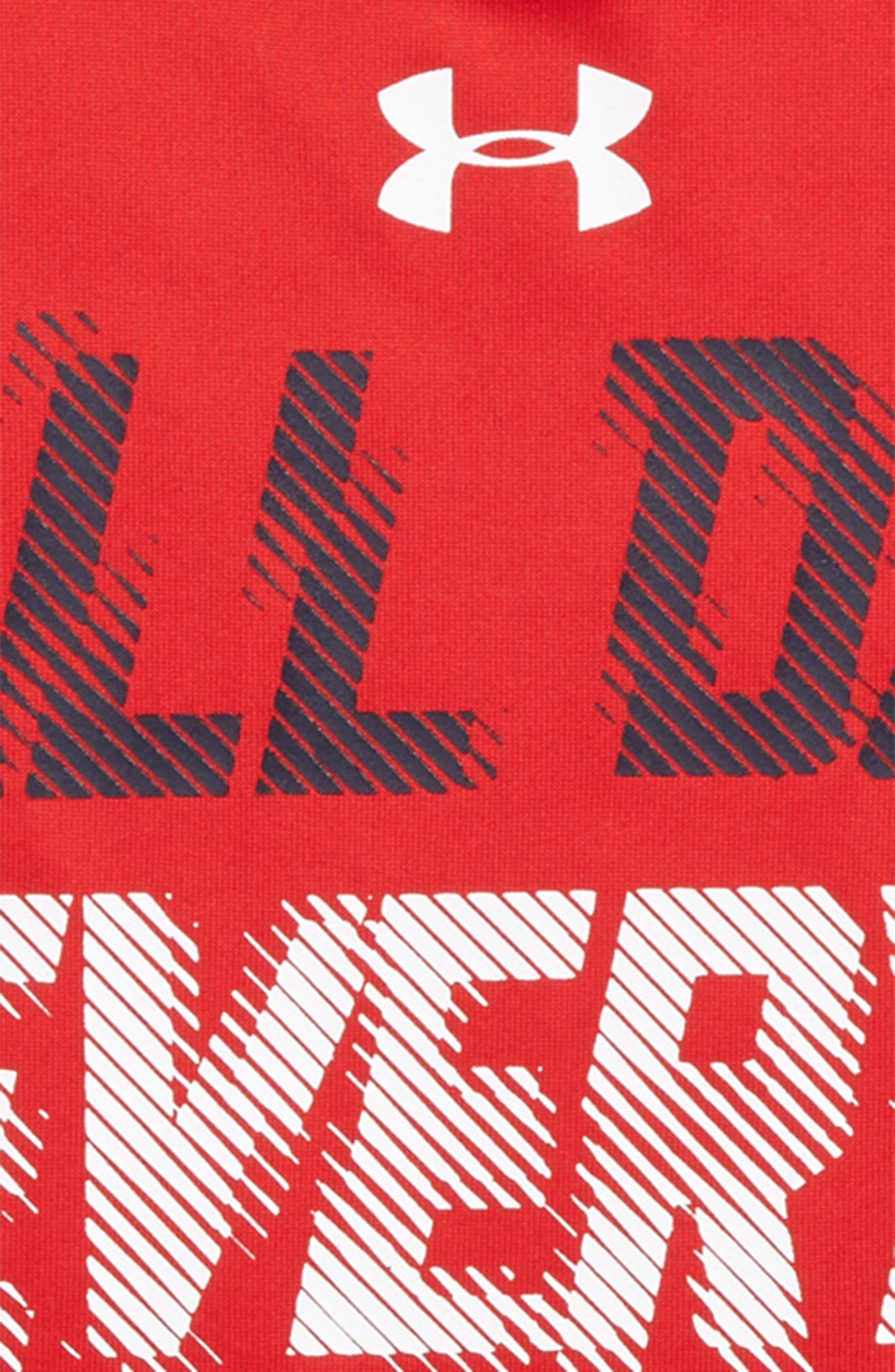 MVP All Day Graphic HeatGear<sup>®</sup> T-Shirt,                             Alternate thumbnail 2, color,                             Red