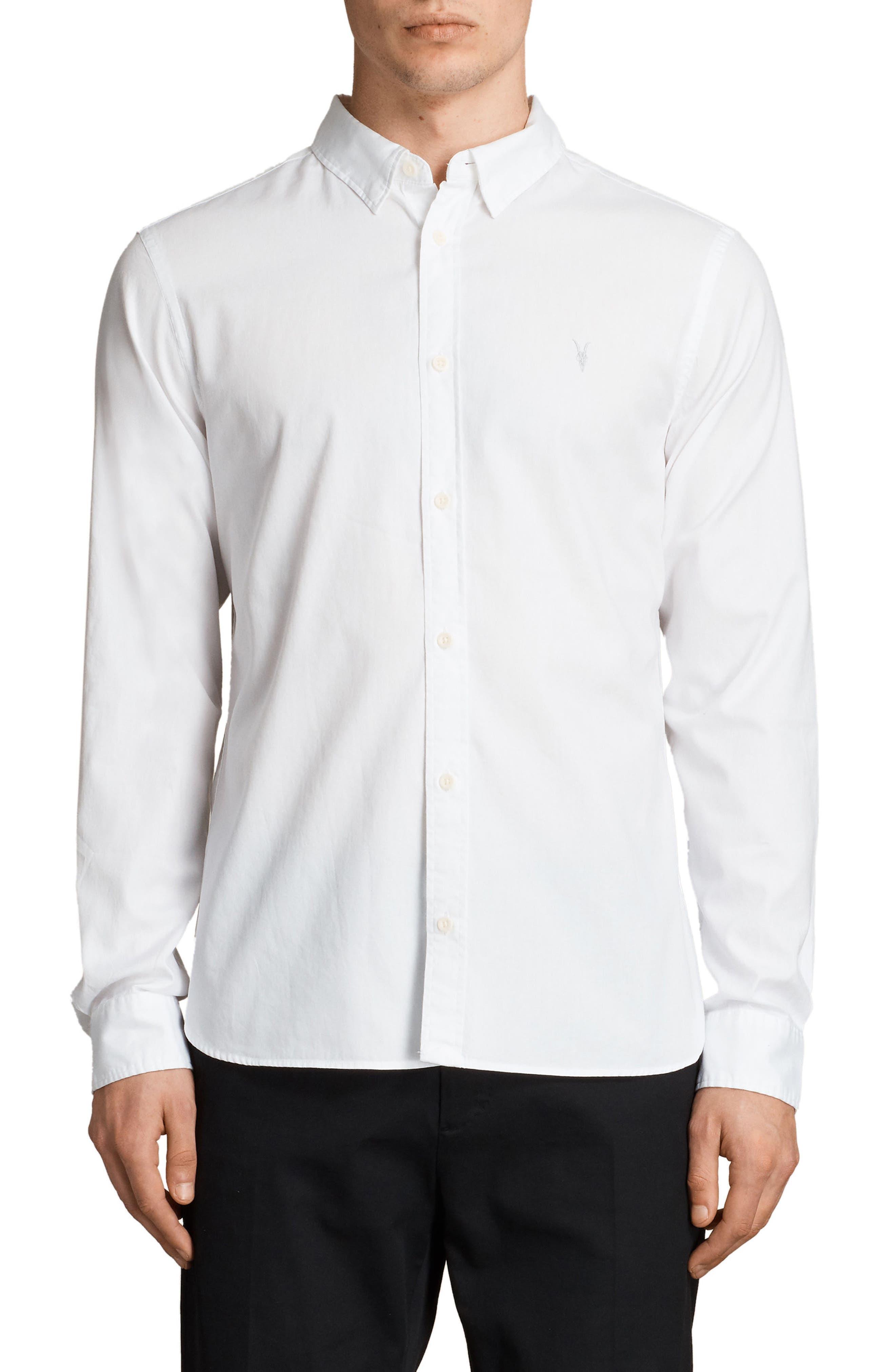 Redondo Slim Fit Shirt,                             Main thumbnail 1, color,                             White