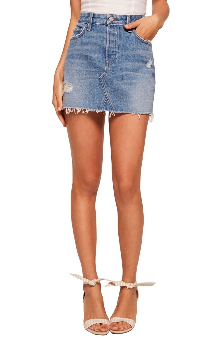 Retooled Denim Miniskirt