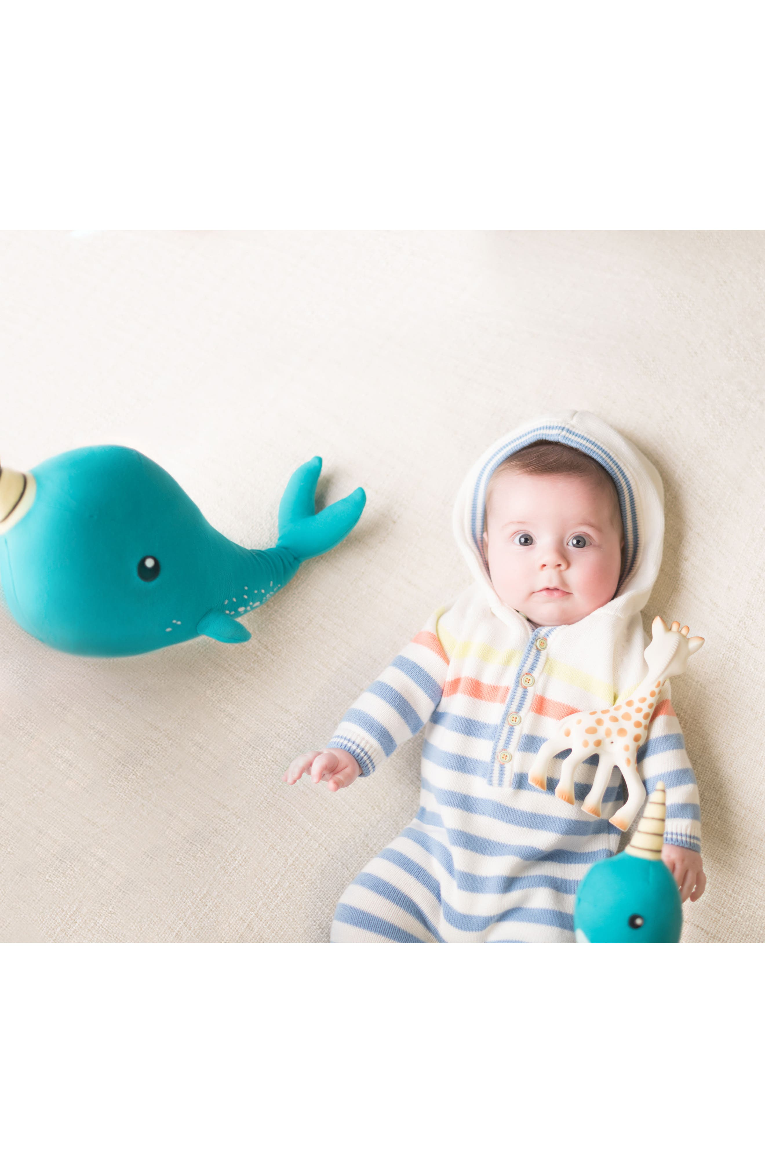 Norman Narwhal Stuffed Animal,                             Alternate thumbnail 3, color,                             Blue