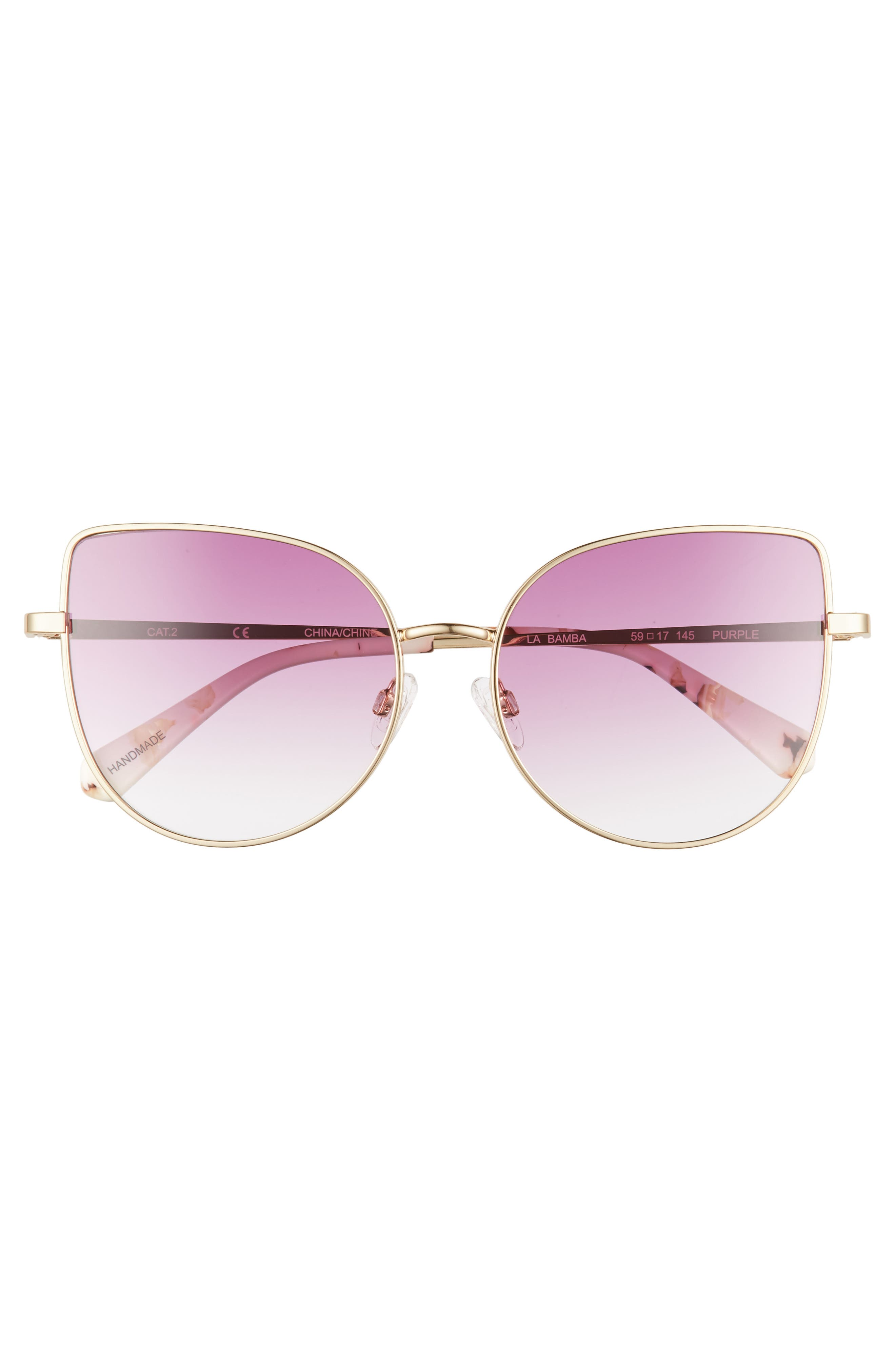 La Bamba 59mm Sunglasses,                             Alternate thumbnail 3, color,                             Purple