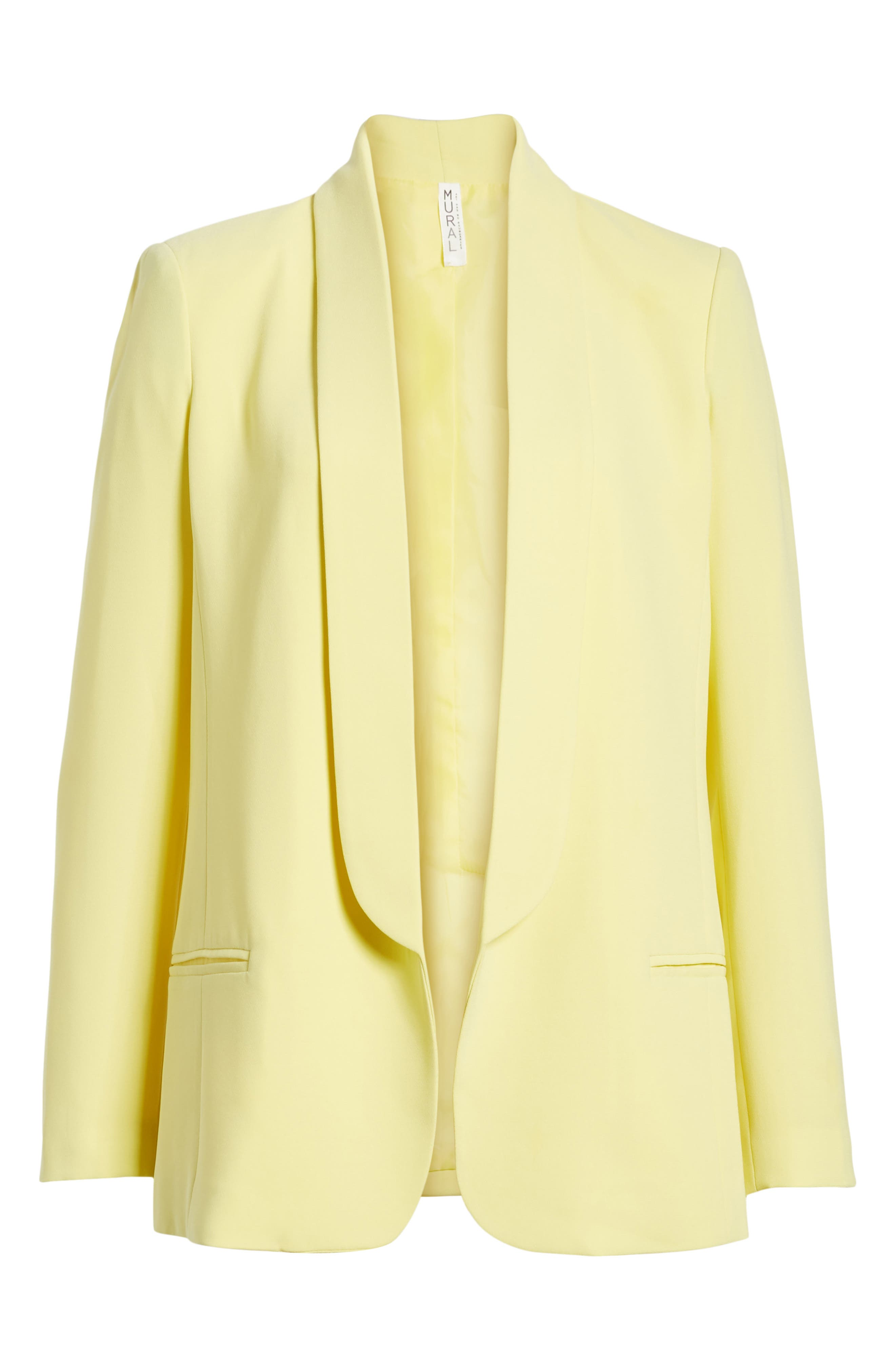 Slouchy Boyfriend Blazer,                             Alternate thumbnail 6, color,                             Yellow Canary