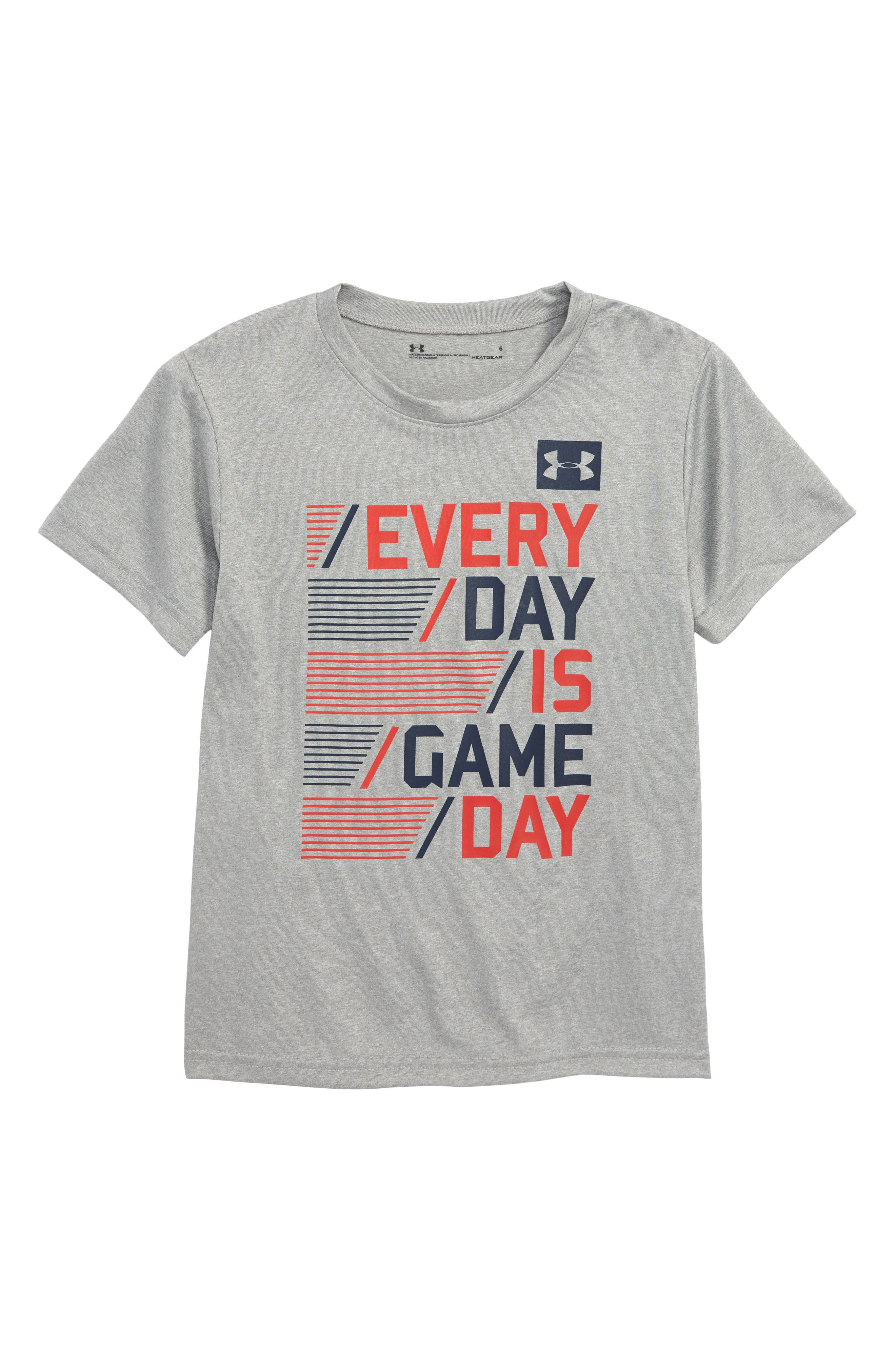 Every Day is Game Day HeatGear<sup>®</sup> T-Shirt,                             Main thumbnail 1, color,                             True Grey Heather