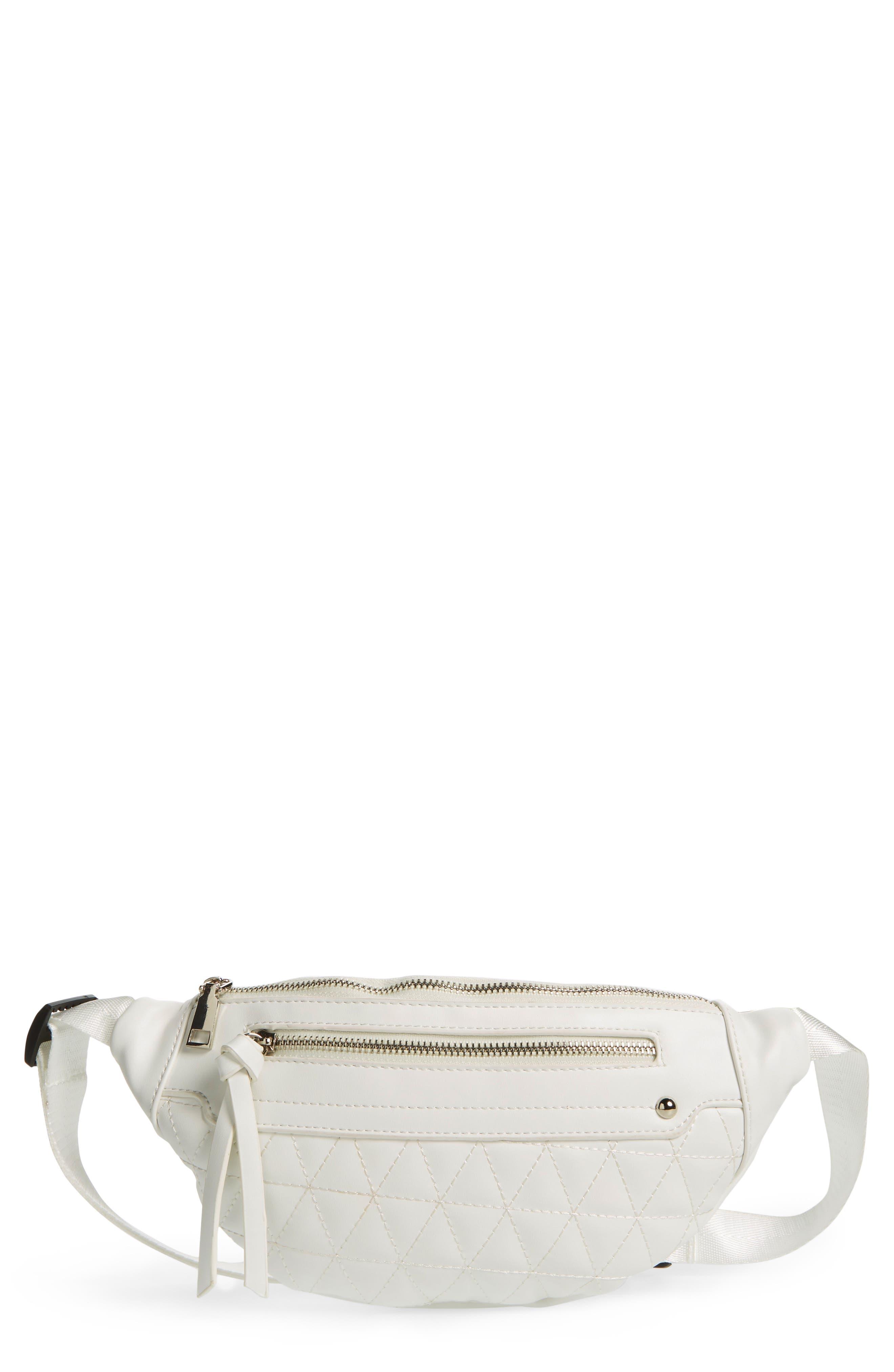 Yoki Bags Quilted Faux Leather Belt Bag