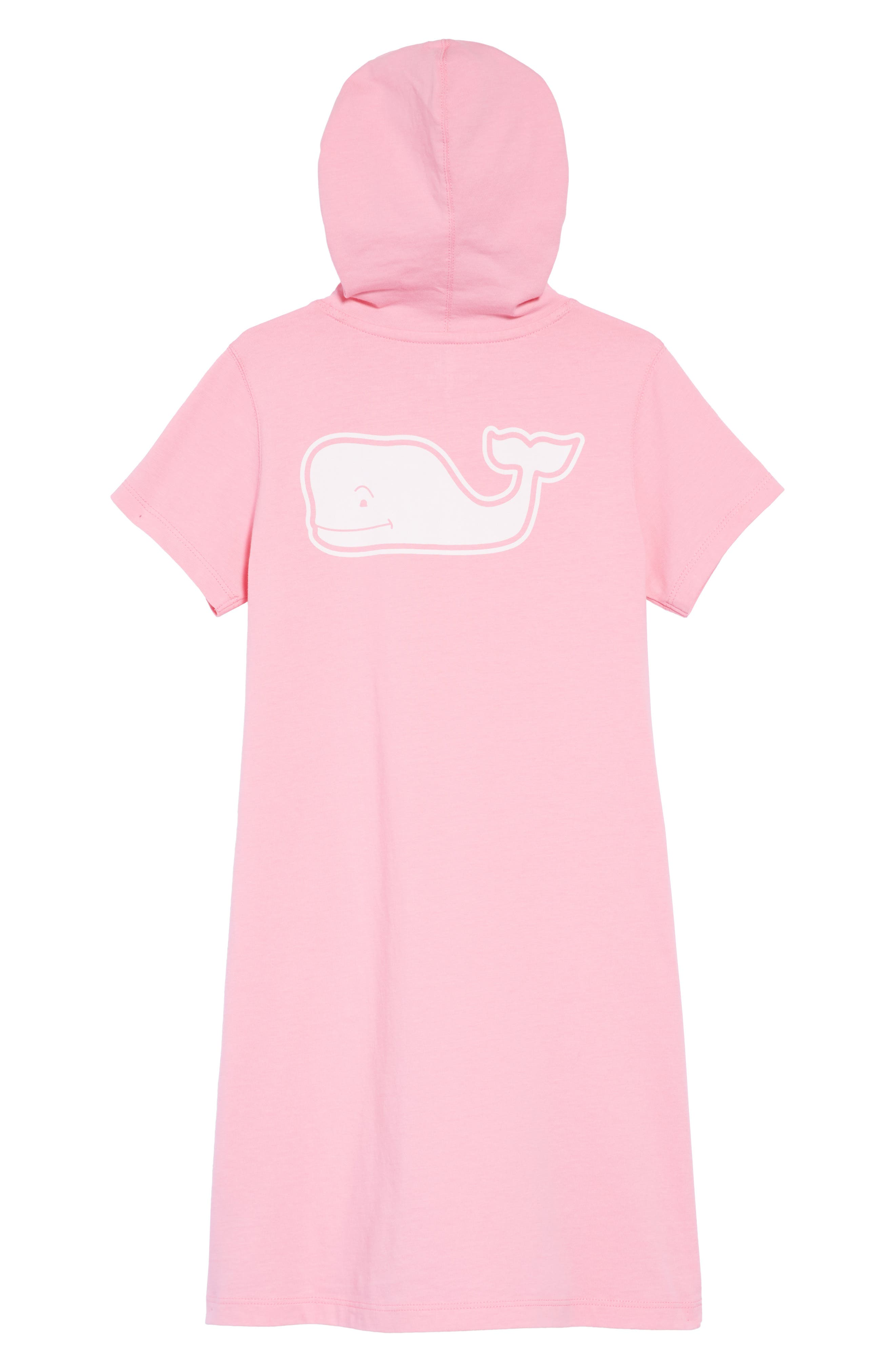 Hooded T-Shirt Dress,                             Alternate thumbnail 2, color,                             Cupcake