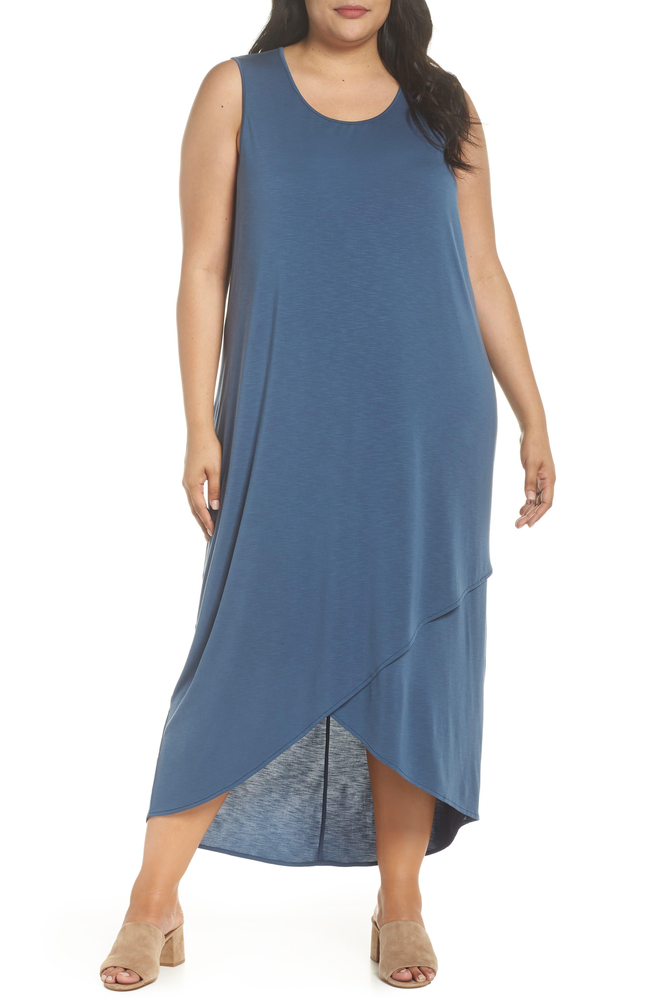 Boardwalk Jersey High/Low Dress,                         Main,                         color, Washed Rich Indigo