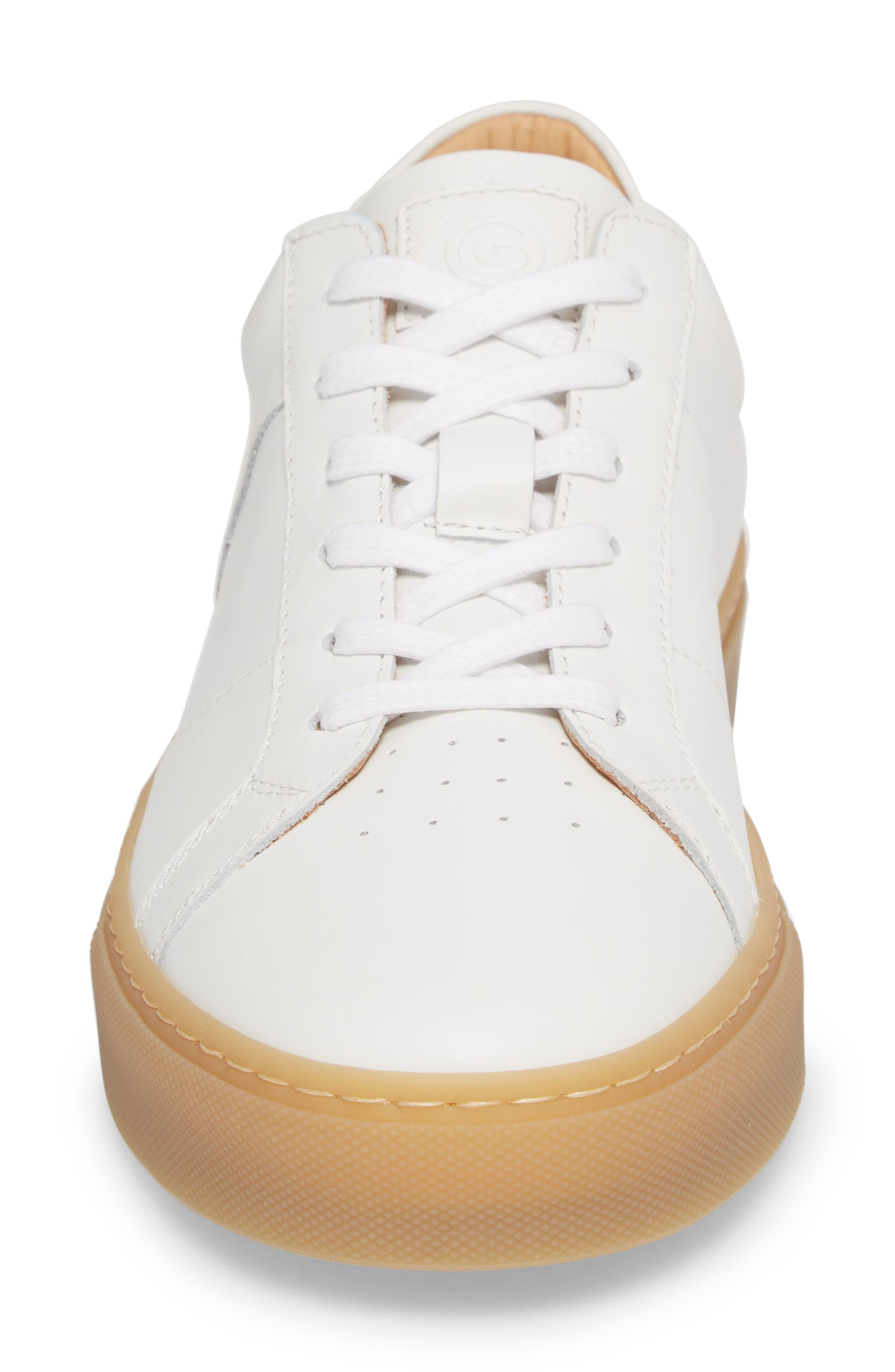 Royale Reverse Sneaker,                             Alternate thumbnail 4, color,                             White/ Gum