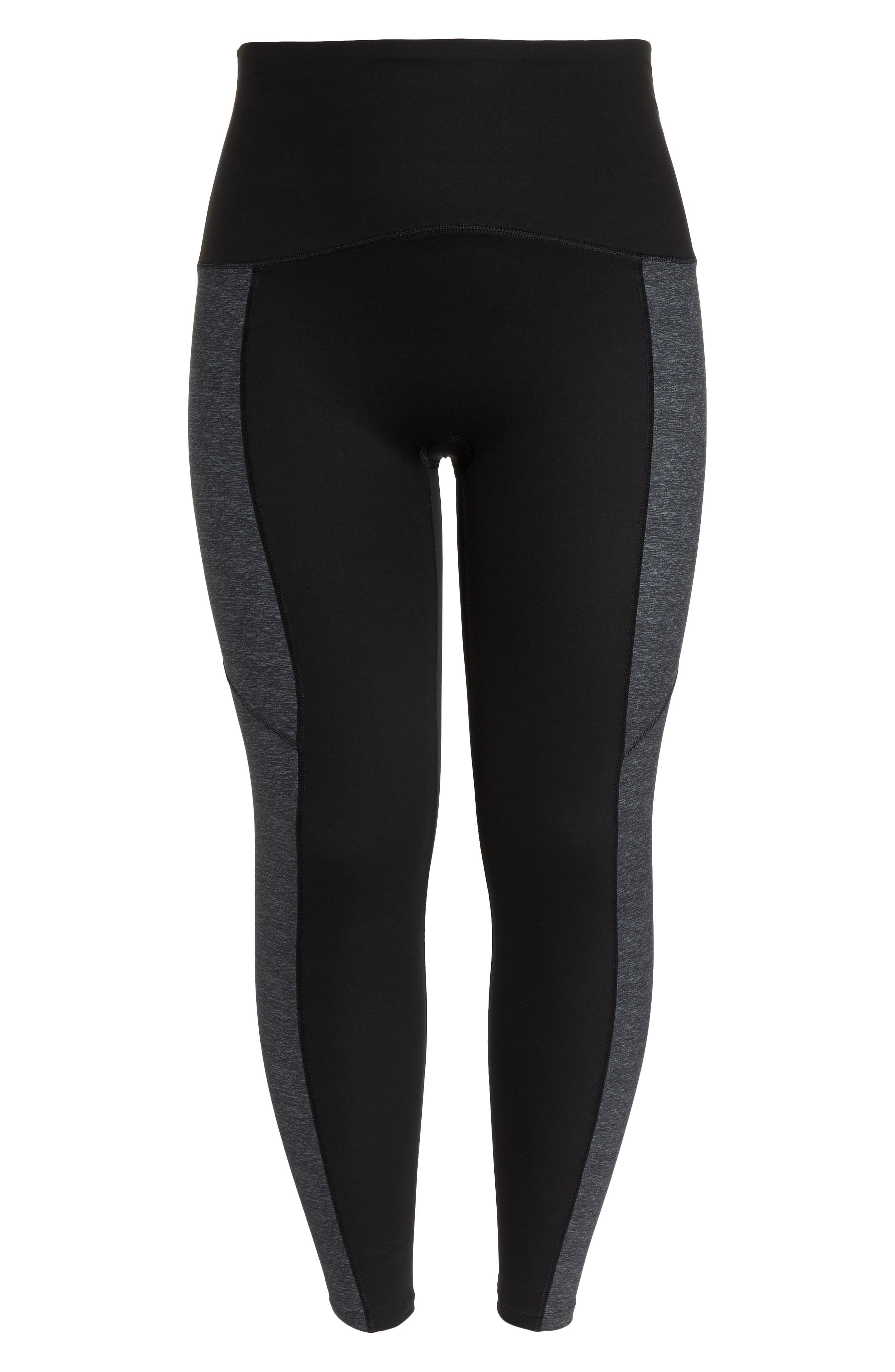 Colorblock Active Leggings,                             Alternate thumbnail 7, color,                             Marled Heather