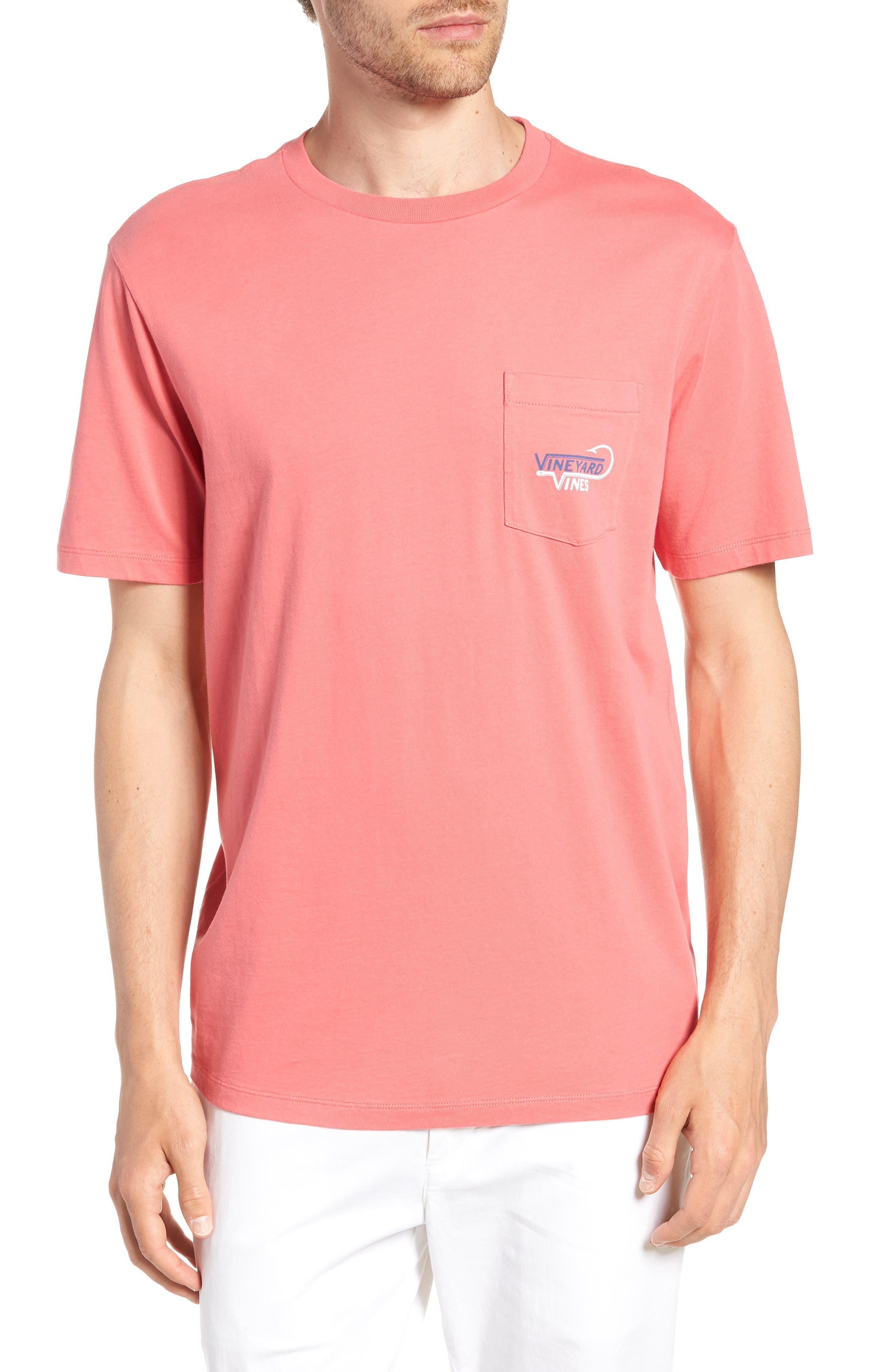 Vineyard Hook Regular Fit Crewneck T-Shirt,                         Main,                         color, Jetty Red