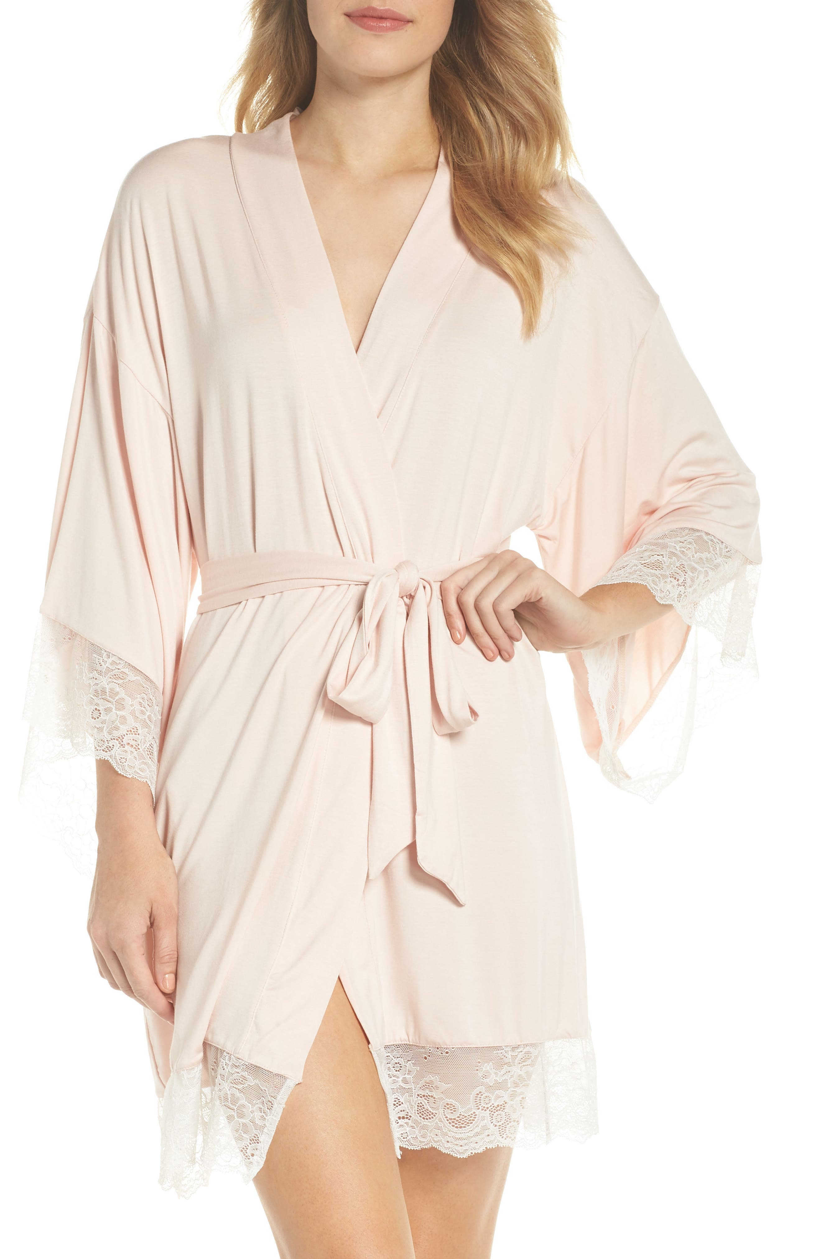 Serafina Kimono Robe,                         Main,                         color, Pink
