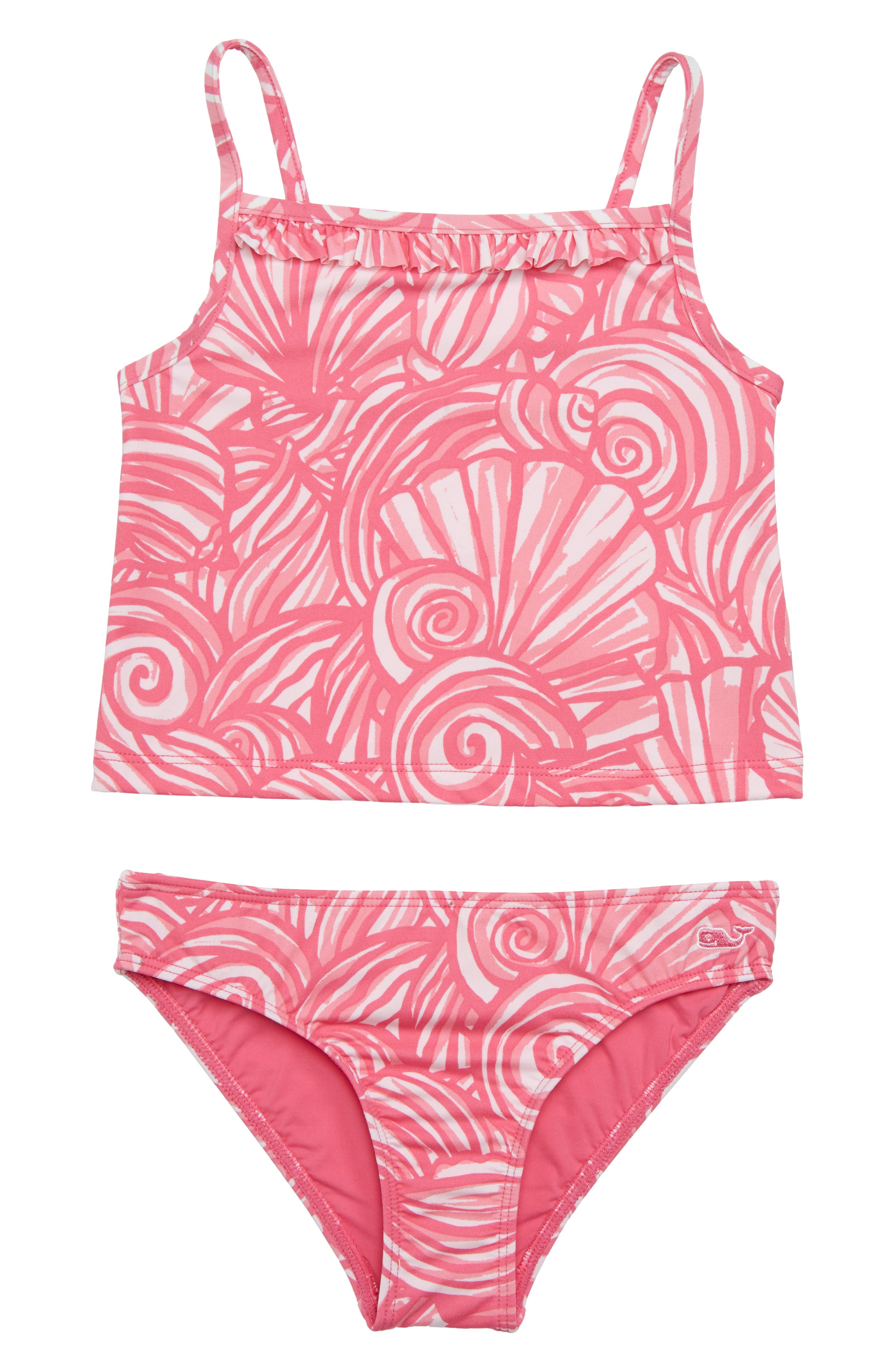 Shell Two-Piece Tankini Swimsuit,                             Main thumbnail 1, color,                             Sweet Taffy