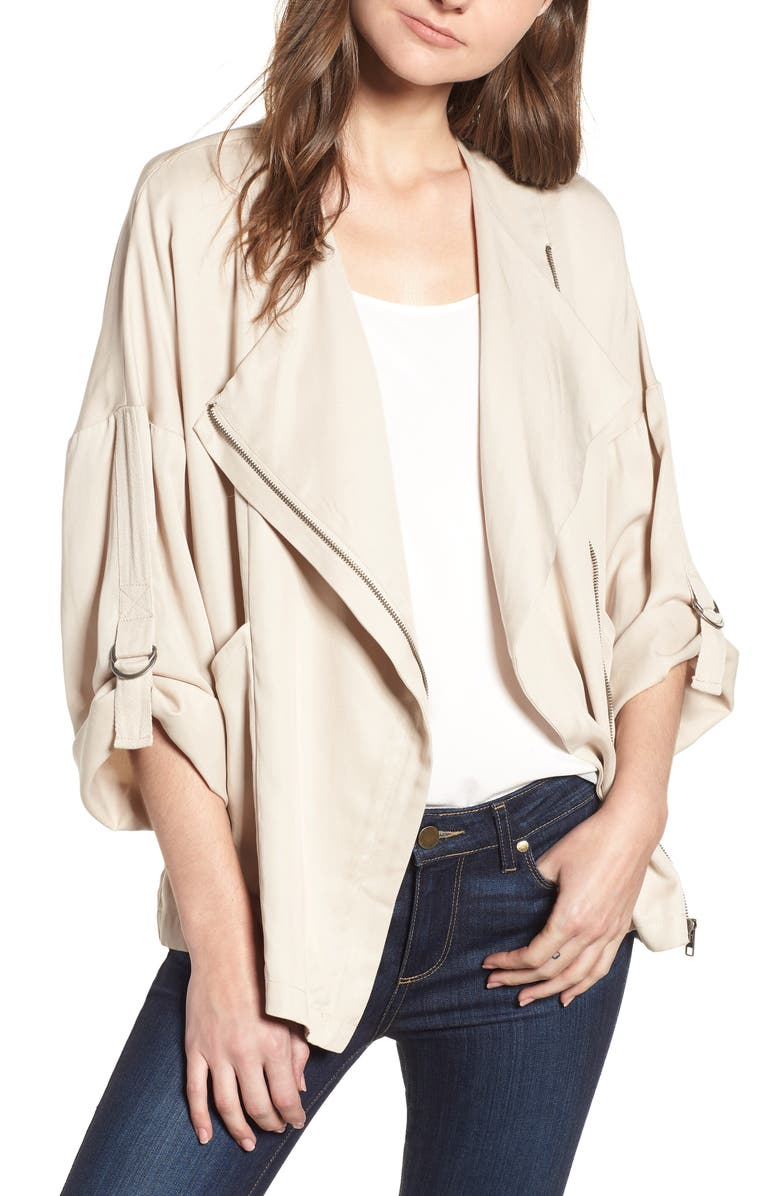 Gabi Drape Front Jacket