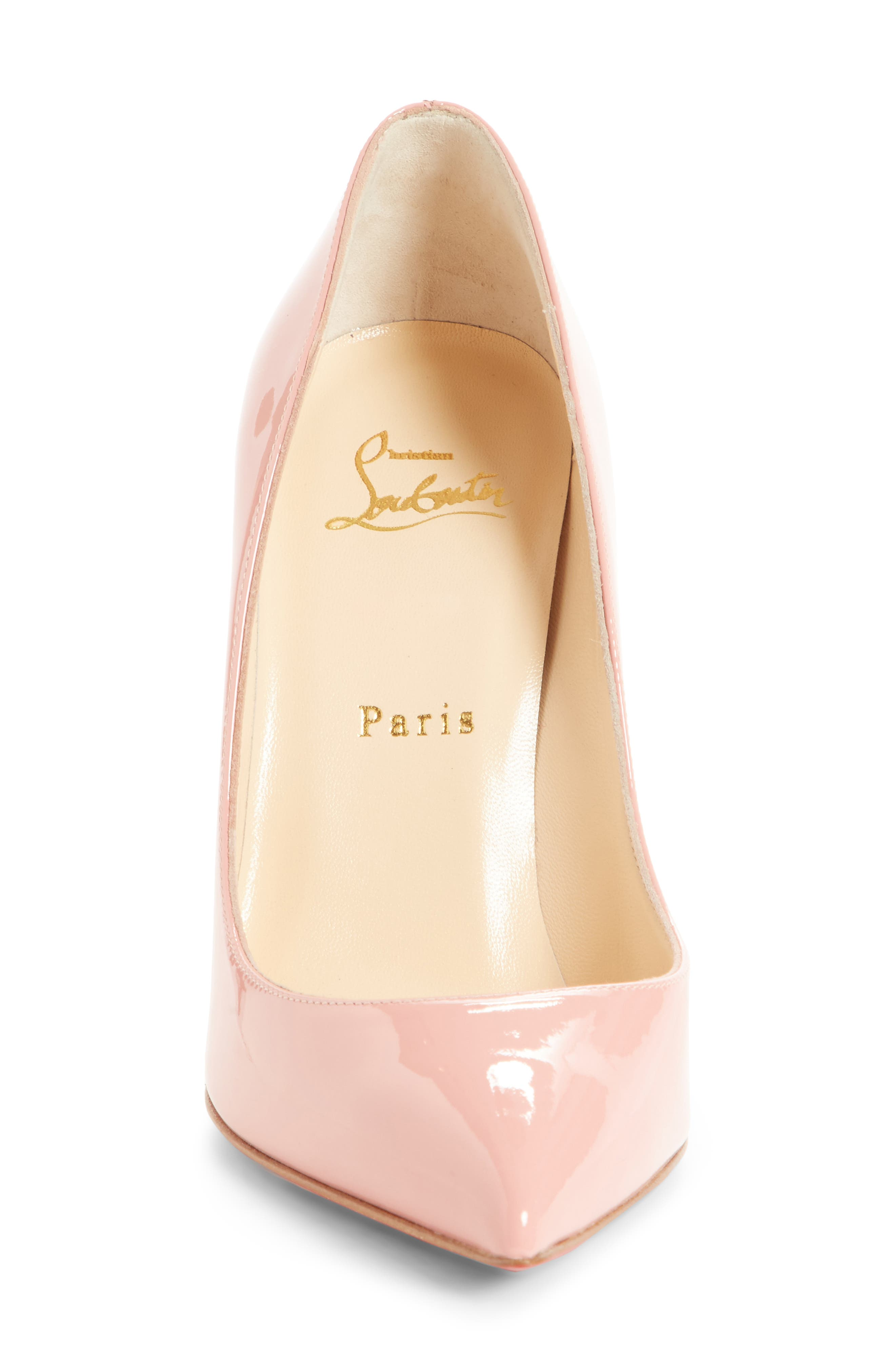 'Pigalle Follies' Pointy Toe Pump,                             Alternate thumbnail 4, color,                             Marshmallow Pink